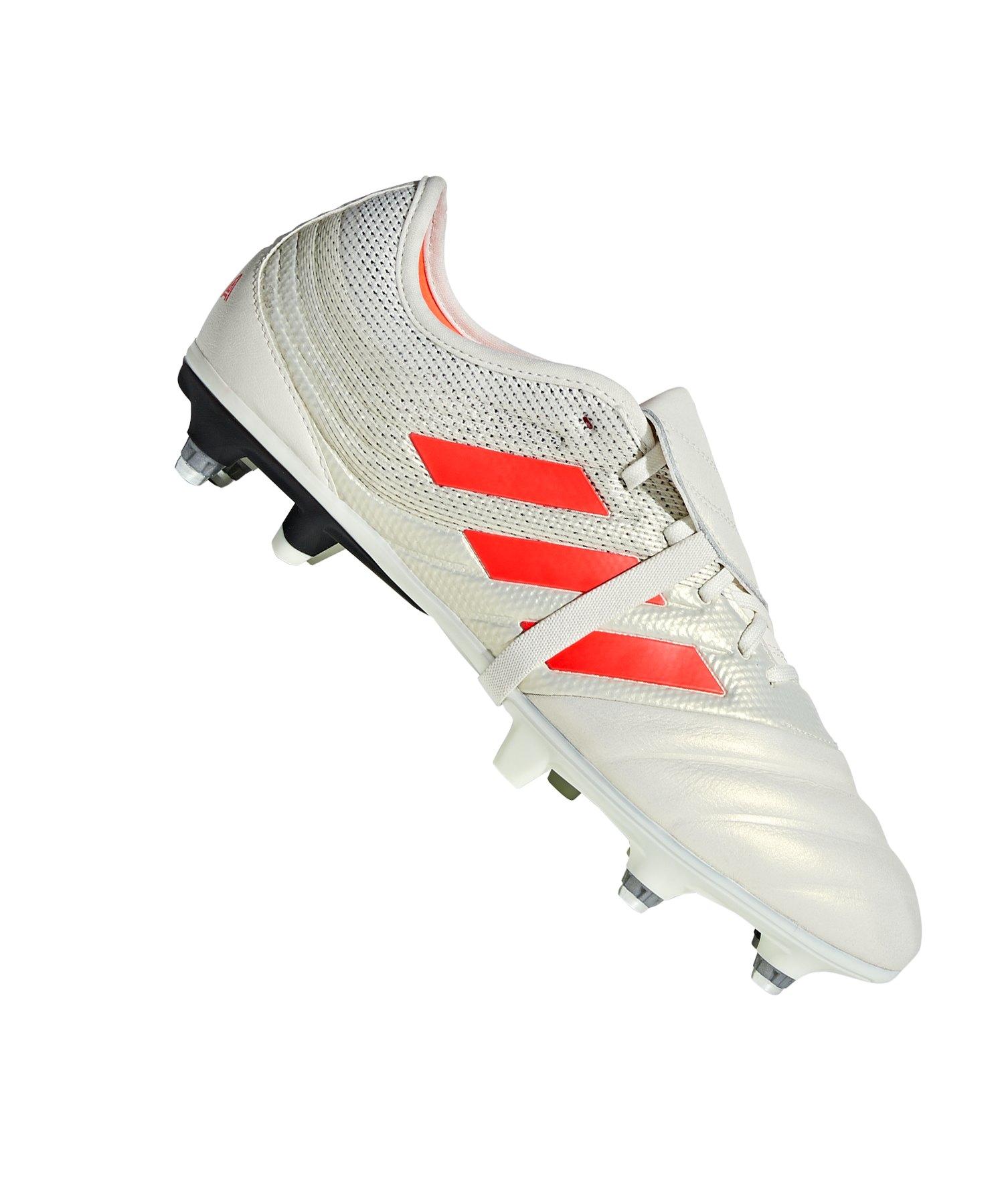 adidas COPA Gloro 19.2 SG Weiss Rot - weiss