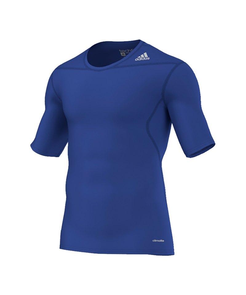 adidas Shortsleeve Tech Fit Base SS Shirt Blau - blau