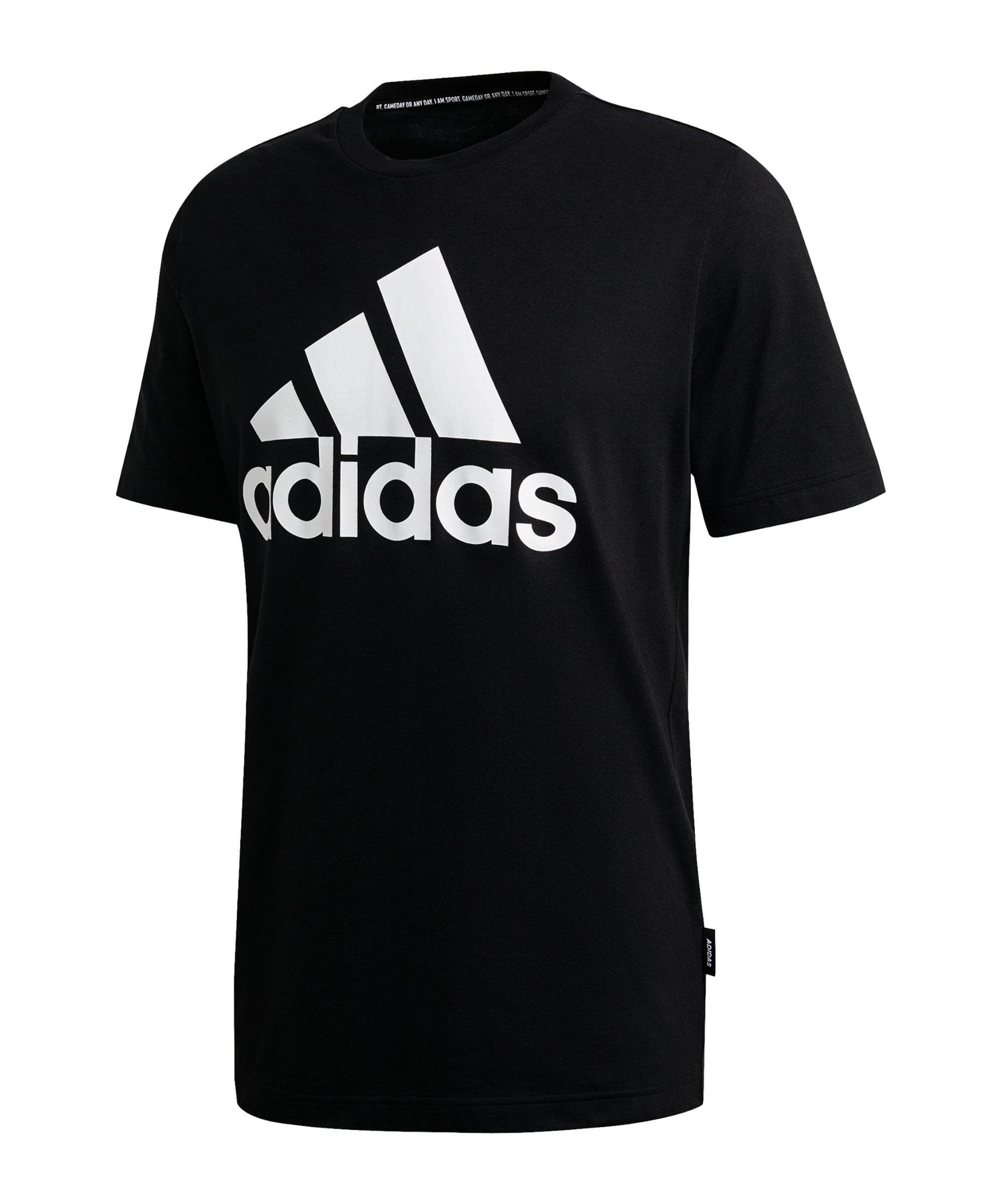 adidas Must Haves Badge of Sport T-Shirt Schwarz - schwarz