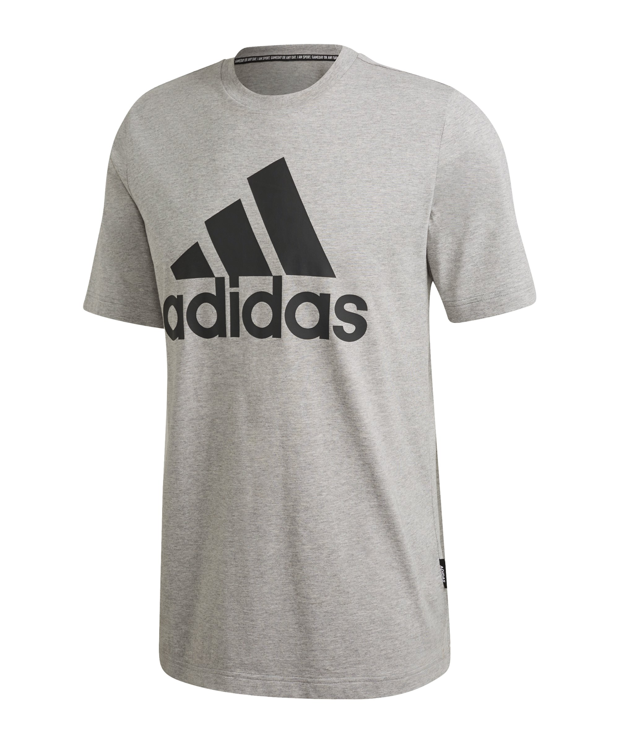 adidas Must Haves Badge of Sport T-Shirt Grau - grau