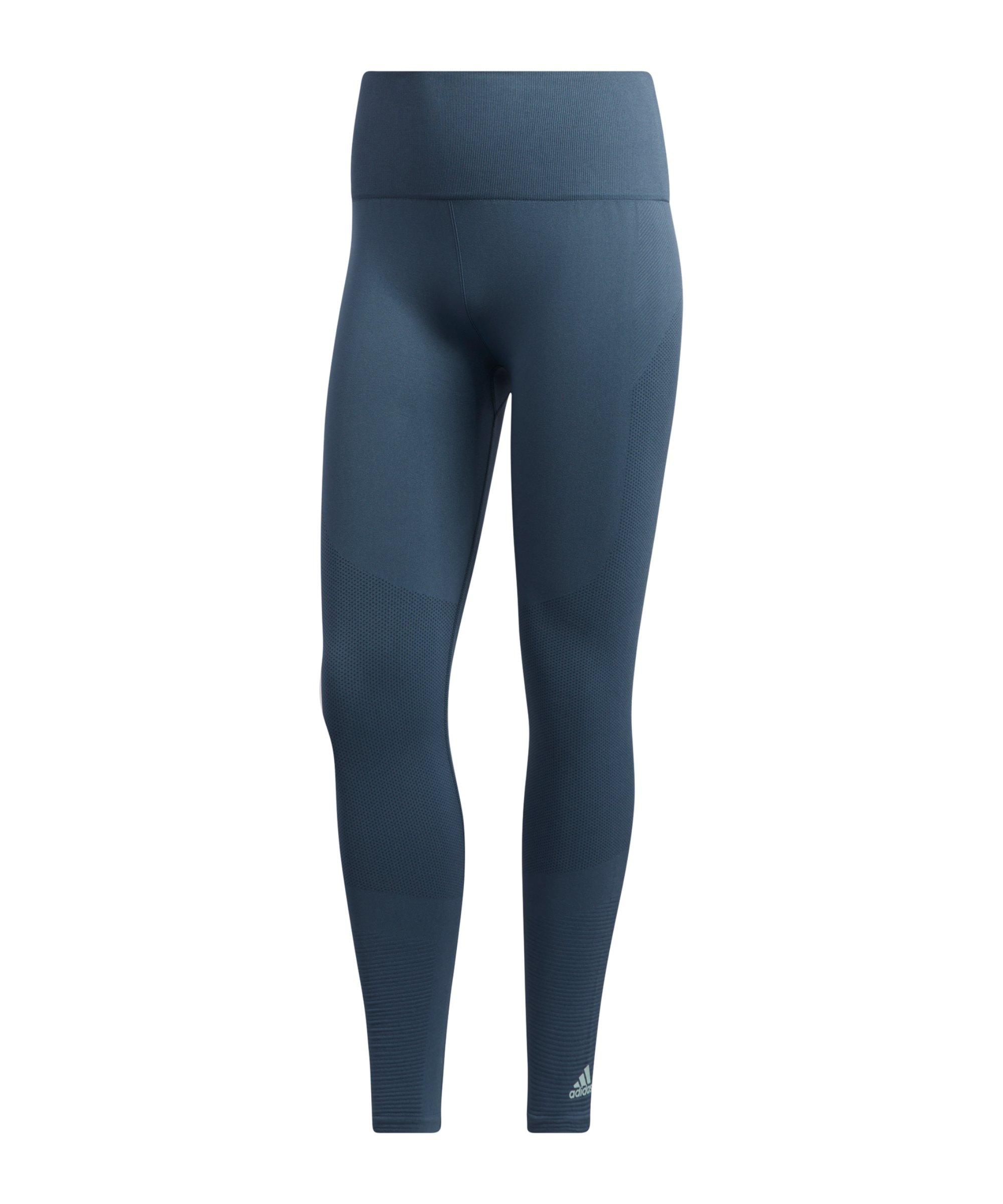 adidas Seamless Leggings Running Damen Blau - blau