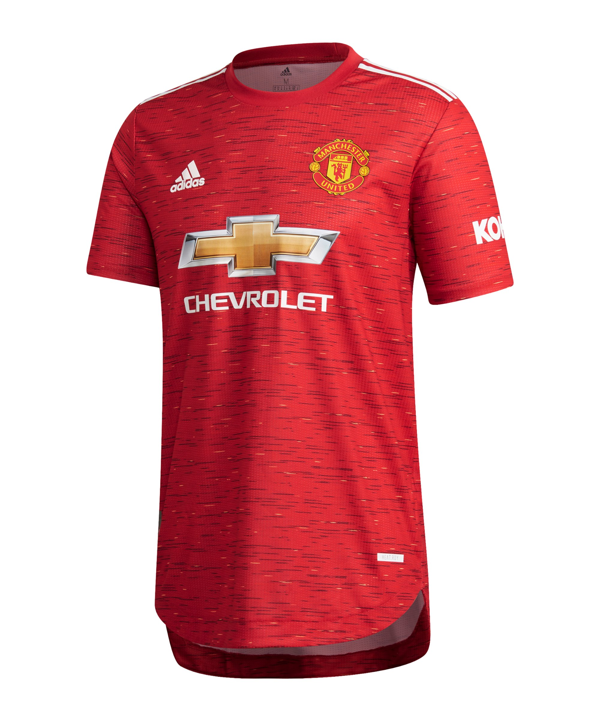 adidas Manchester United Auth. Trikot Home 2020/2021 Rot - rot