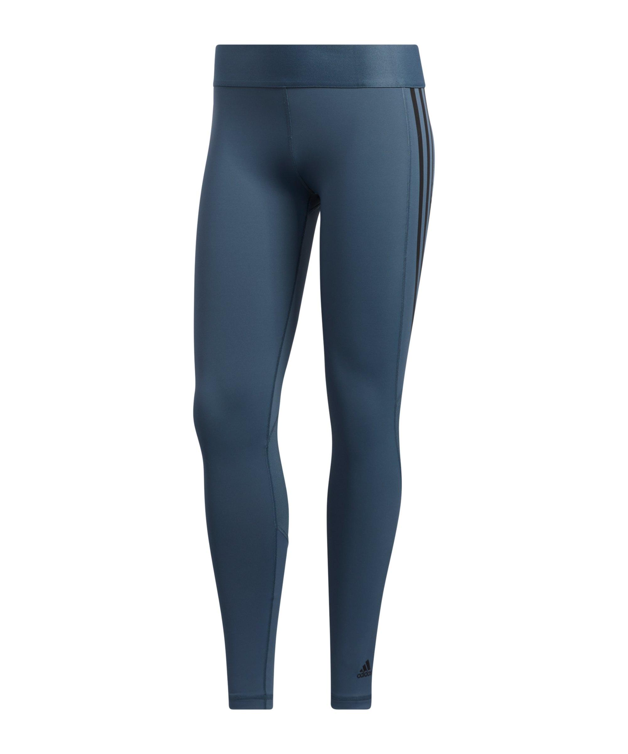 adidas Alphaskin Leggings Damen Blau - blau