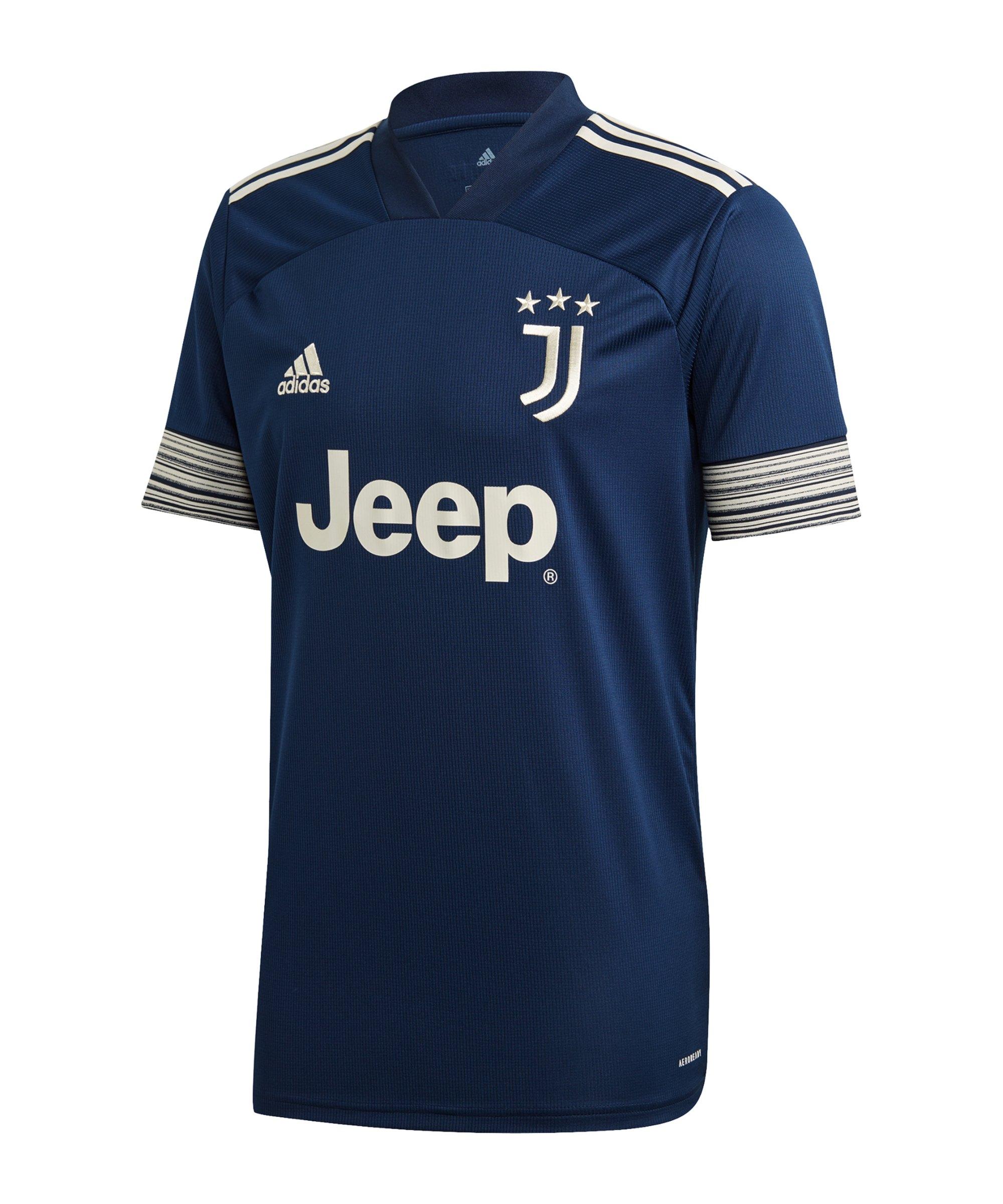 adidas Juventus Turin Trikot Away 2020/2021 Blau - blau