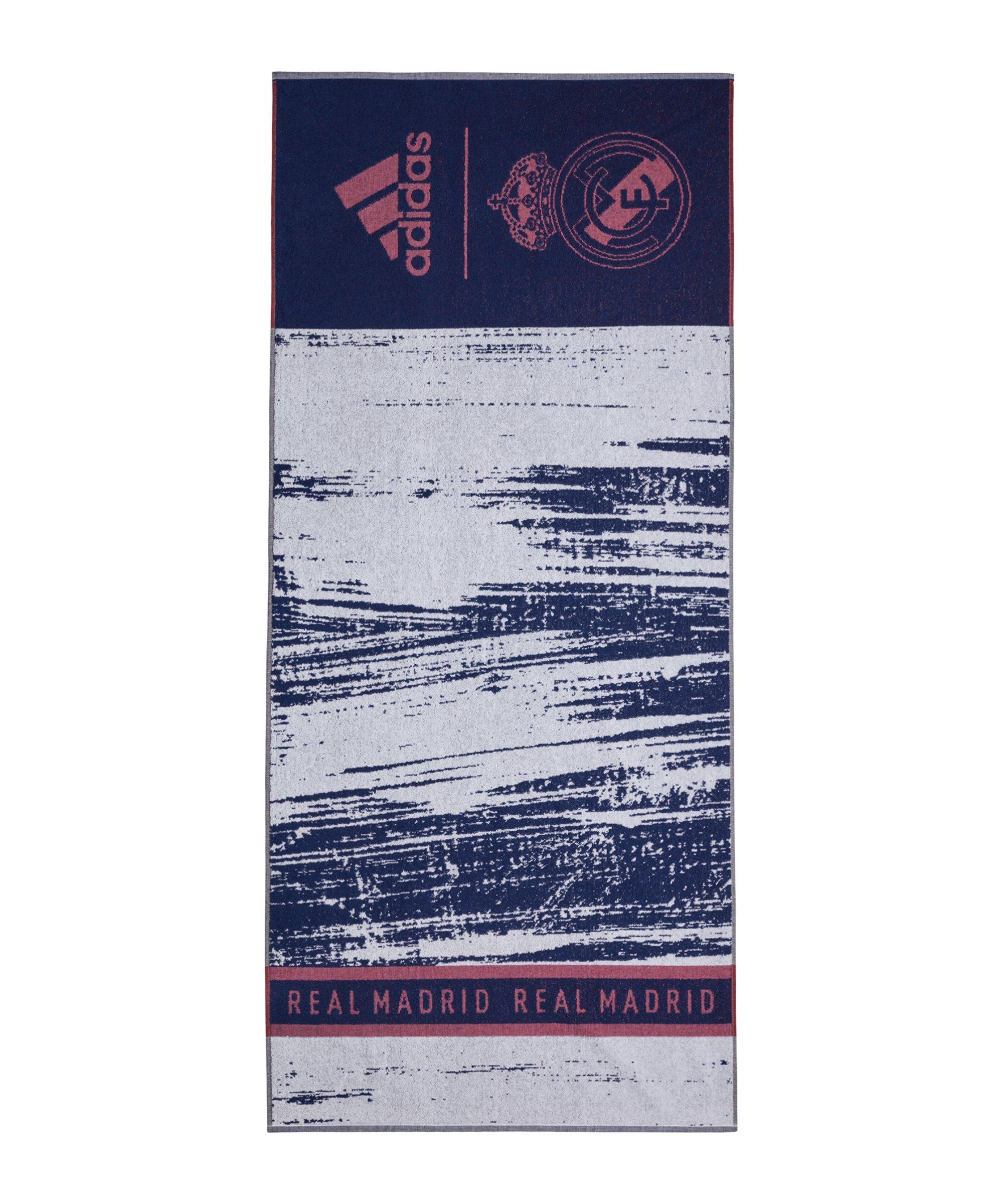 adidas Real Madrid Handtuch Blau - blau