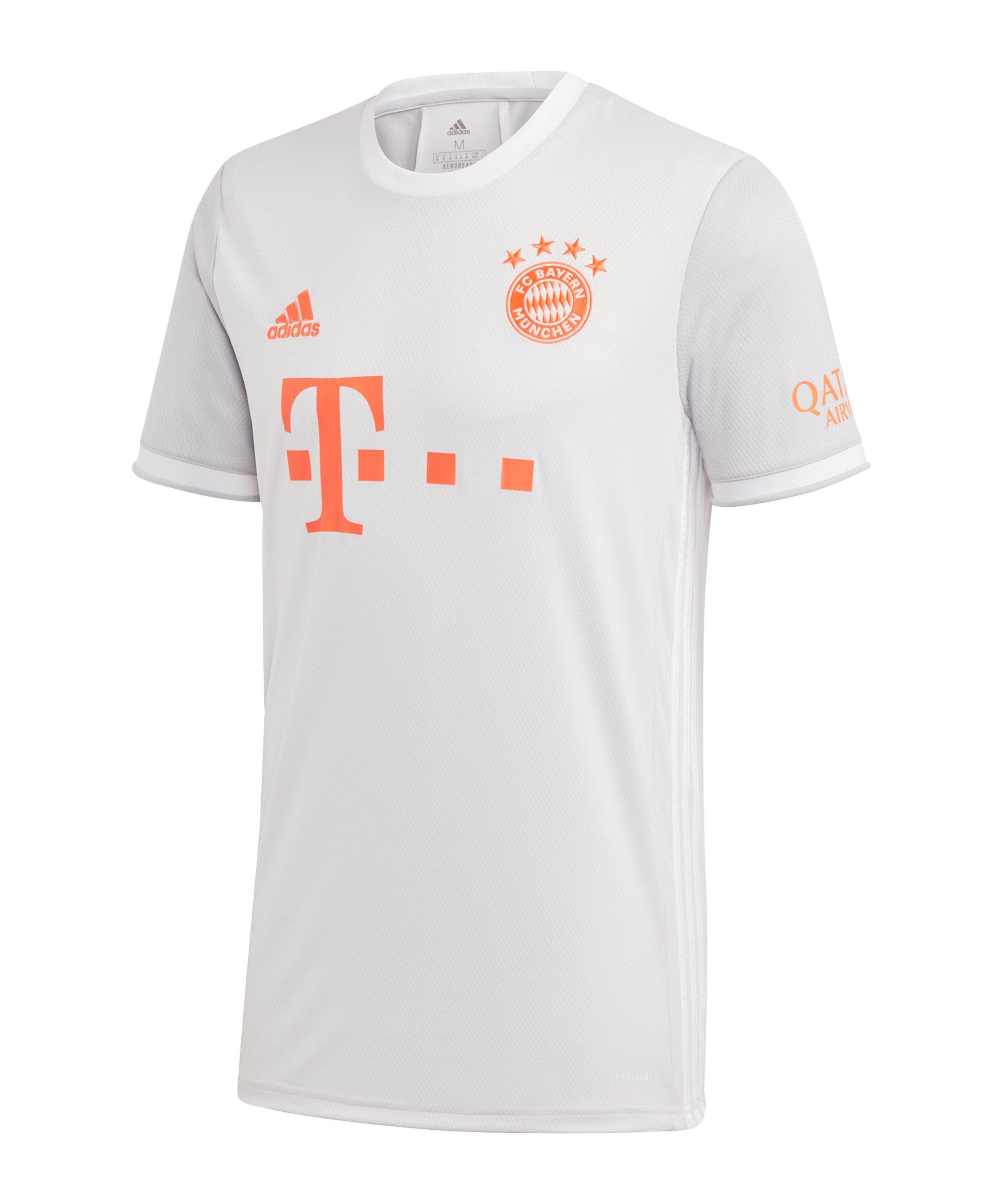 adidas FC Bayern München Trikot Away 2020/2021 Weiss - grau