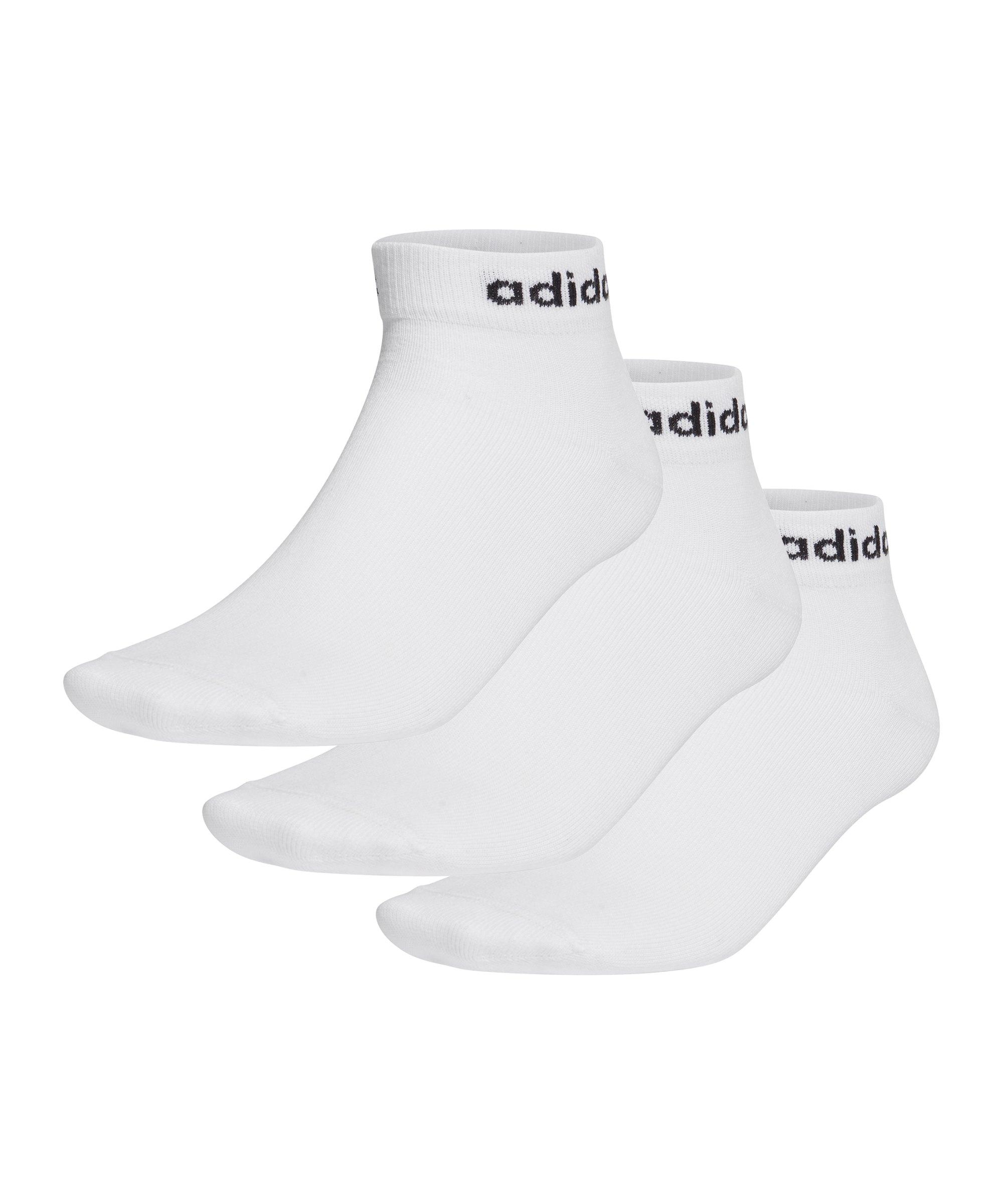 adidas Ankle Socken 3 Paar Weiss Schwarz - weiss