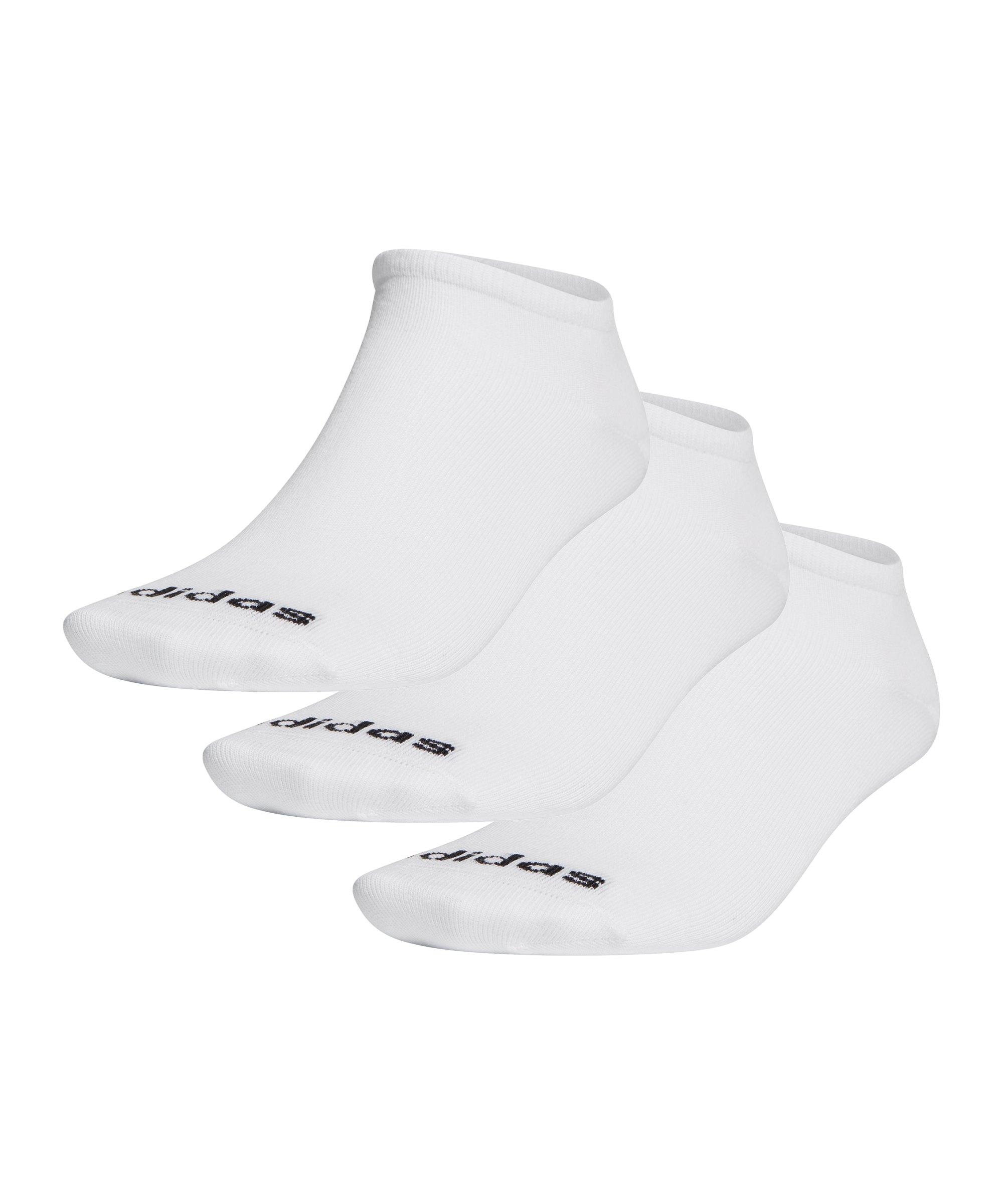 adidas Füsslinge 3er Pack Weiss Schwarz - weiss