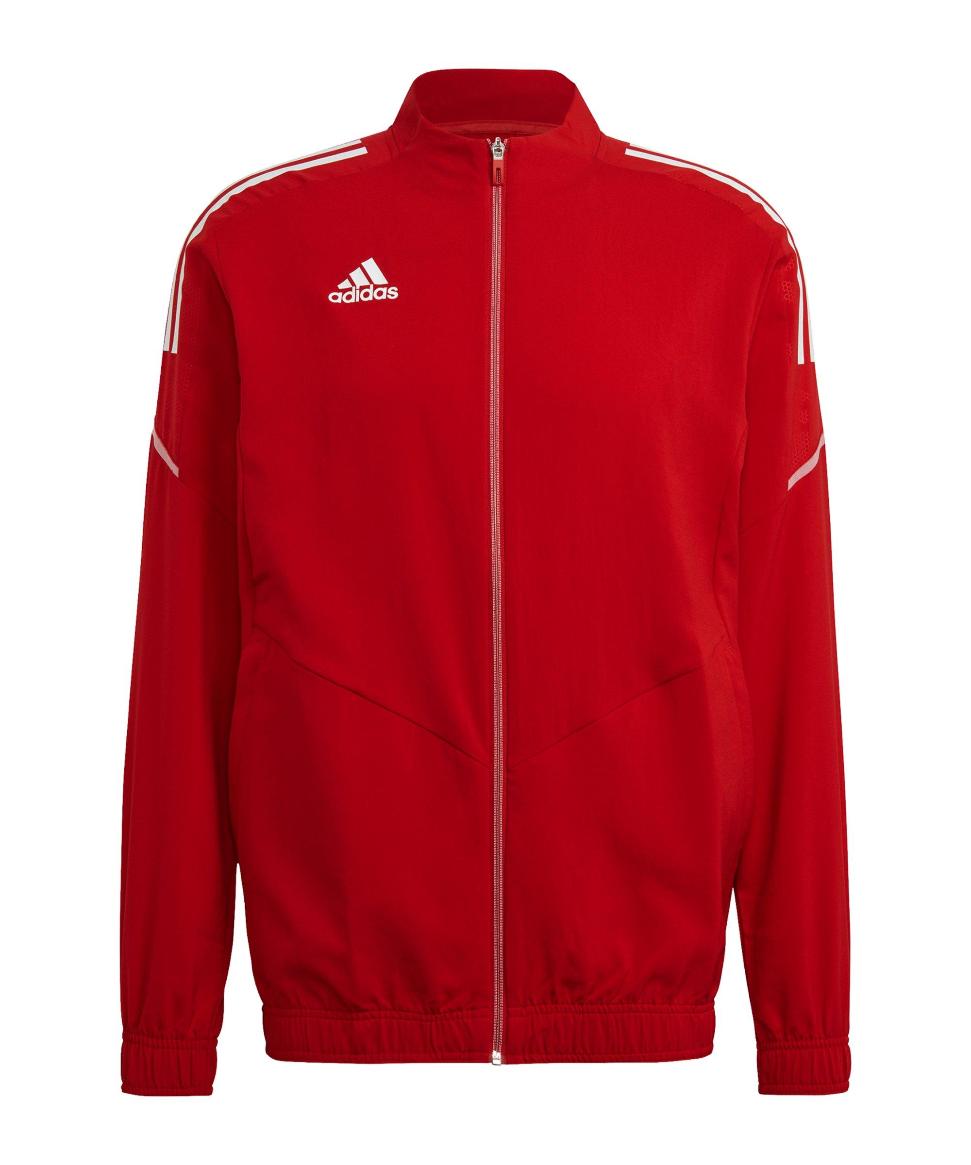 adidas Condivo 21 Präsentationsjacke Rot Weiss - rot