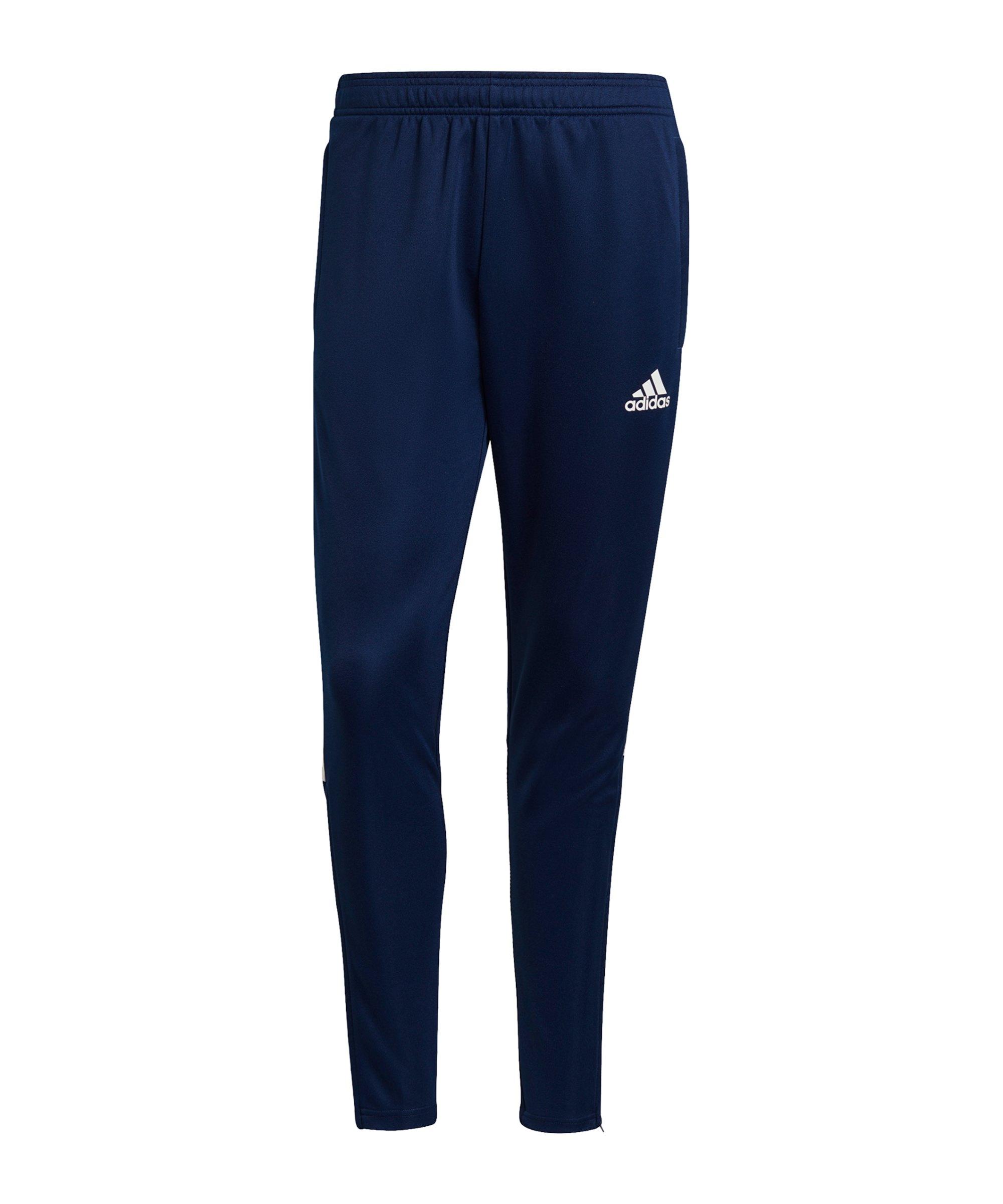 adidas Tiro 21 Trainingshose Blau Weiss - blau