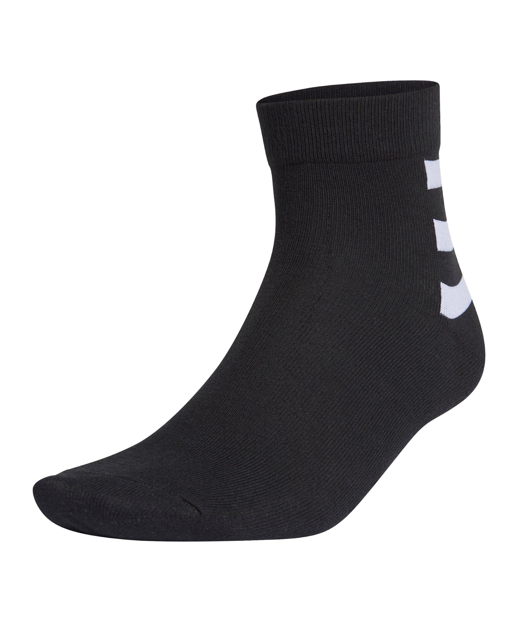 adidas 3S Ankle Socken 3er Pack Schwarz Weiss - schwarz