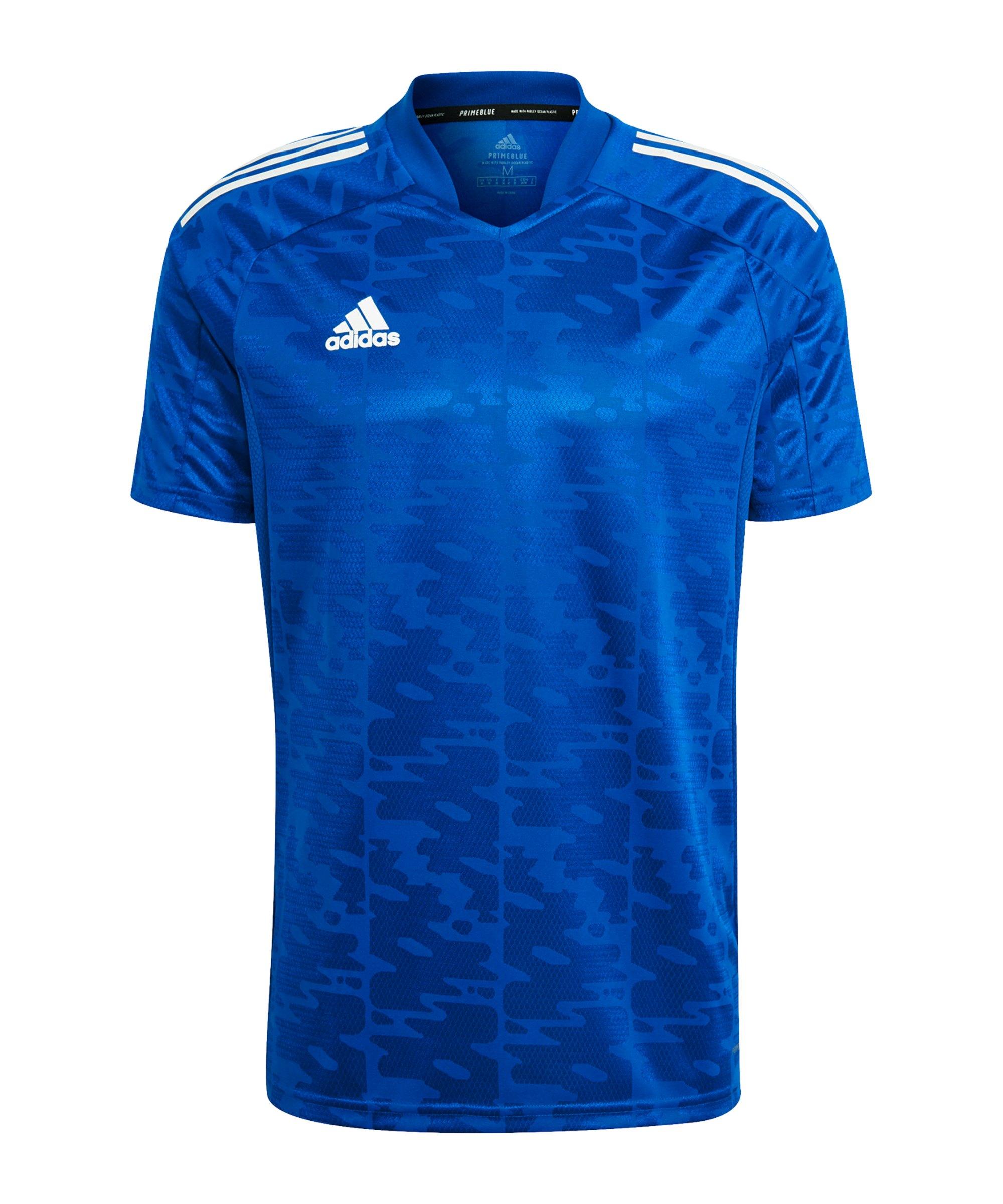 adidas Condivo 21 Trikot Blau Weiss - blau