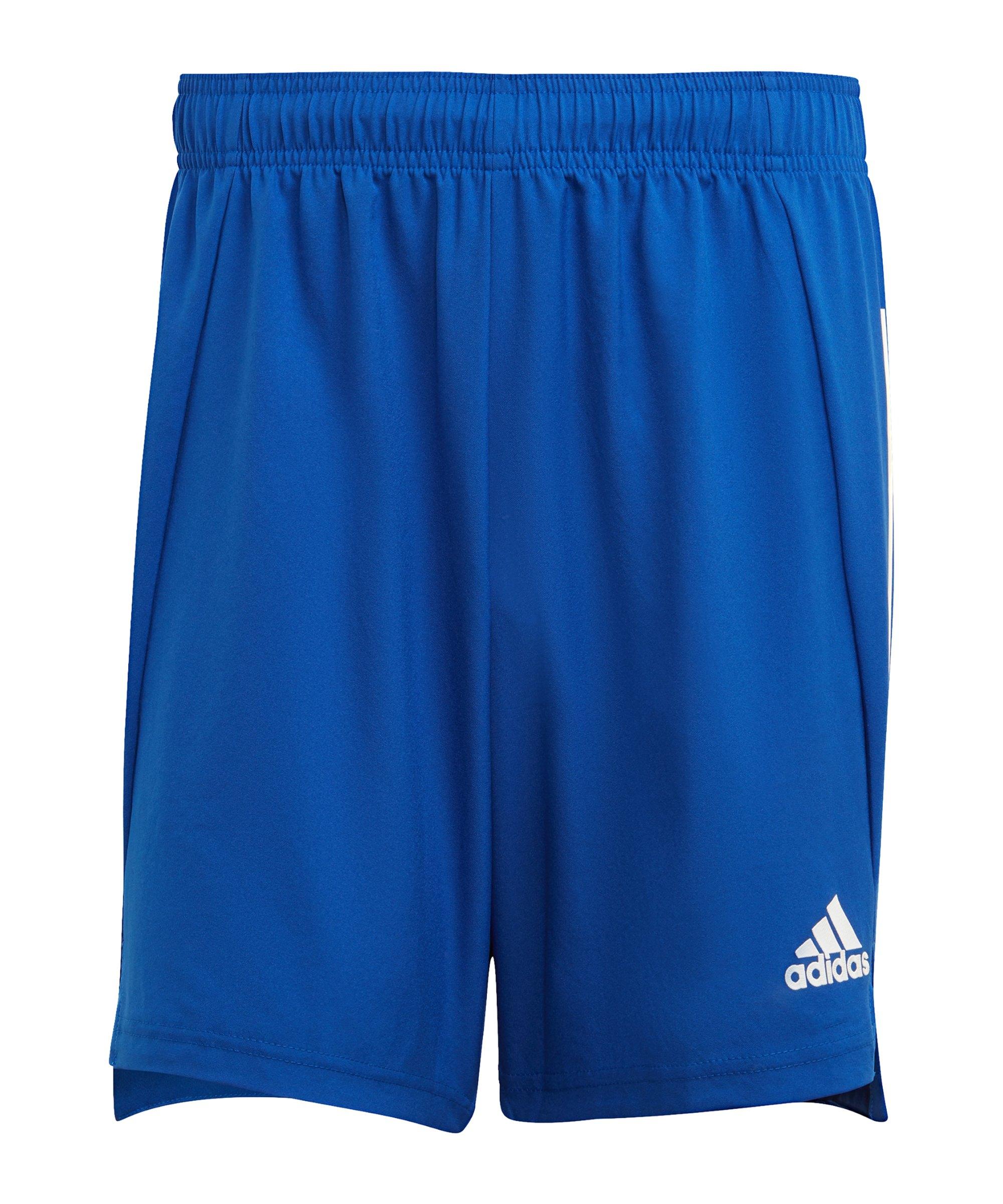adidas Condivo 21 Short Blau Weiss - blau