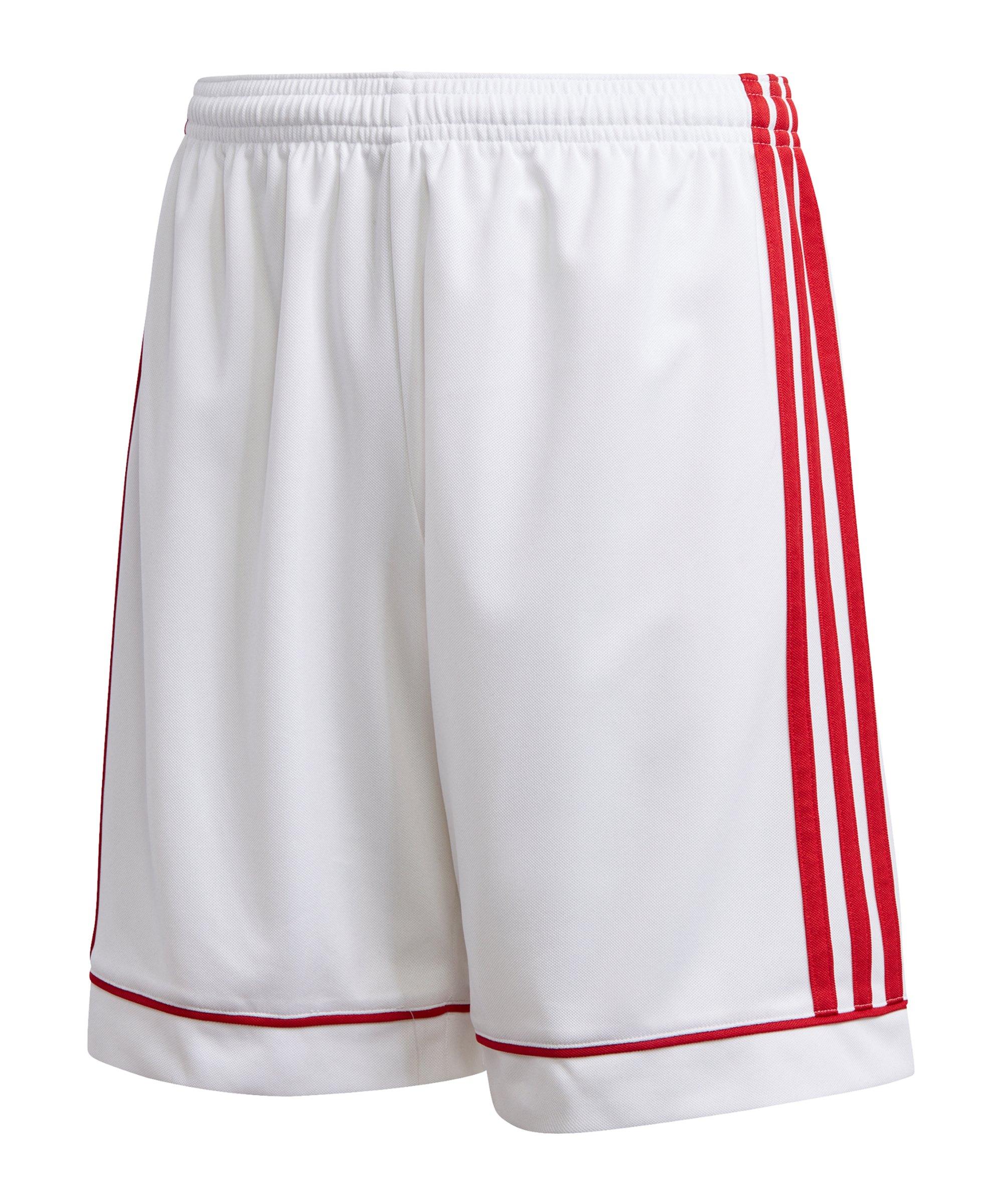 adidas Squad 17 Short Kids Weiss Rot - weiss