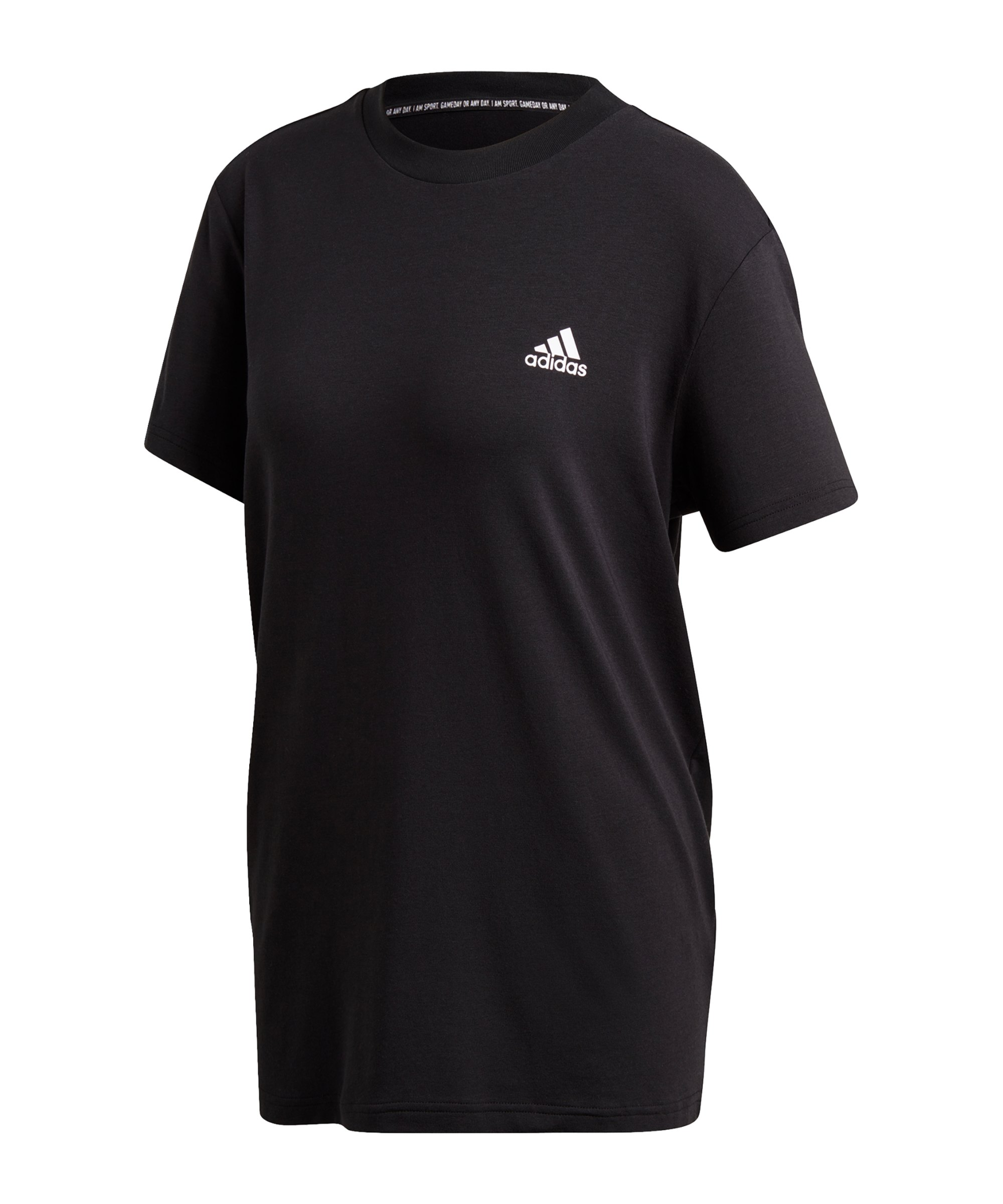 adidas Must Haves 3 Stripes T-Shirt Damen Schwarz - schwarz