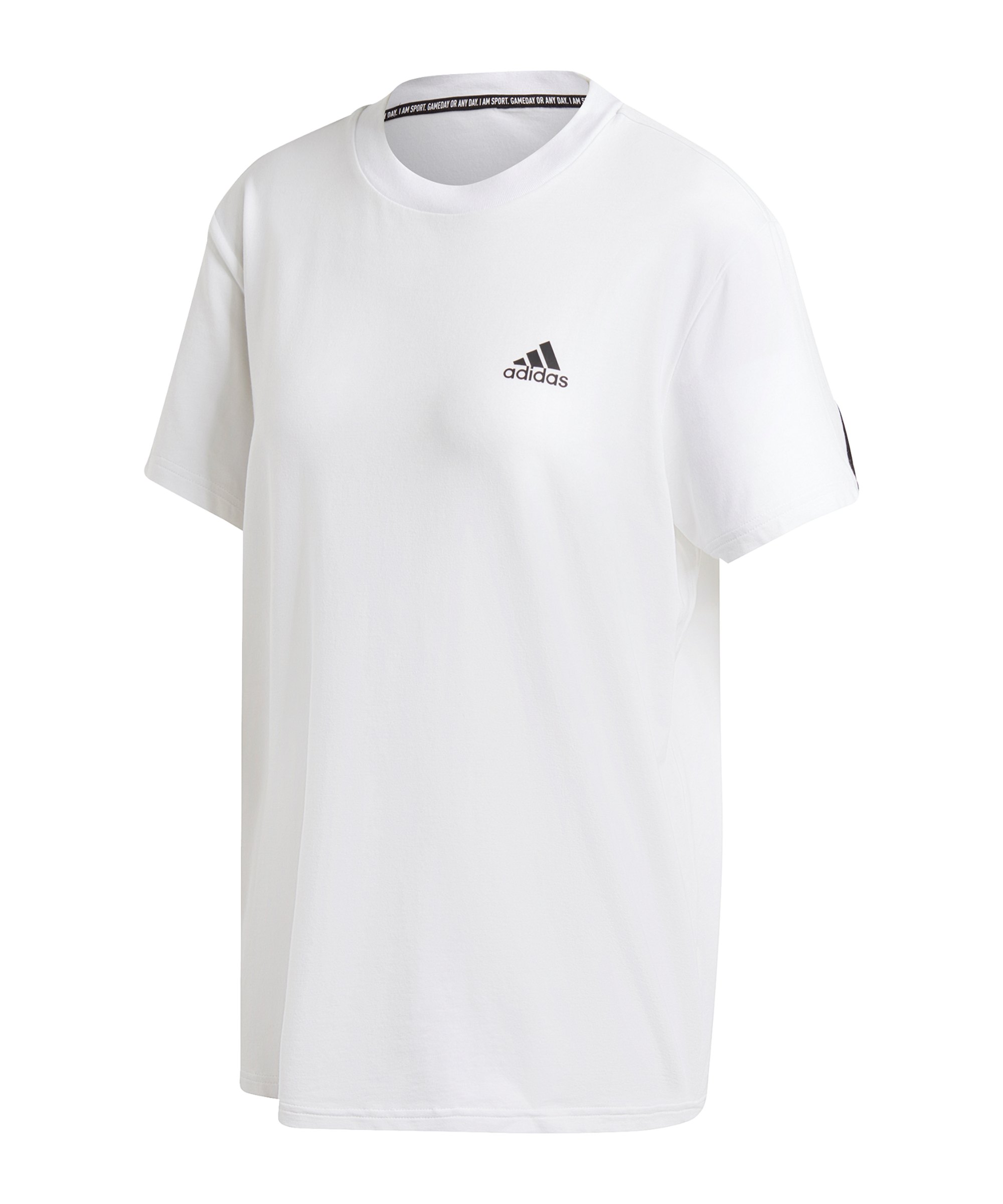 adidas Must Haves 3 Stripes T-Shirt Damen Weiss - weiss
