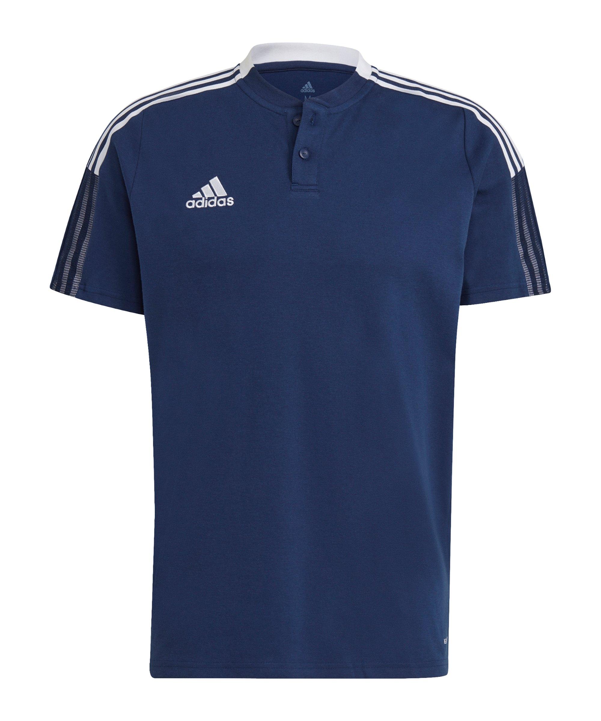 adidas Tiro 21 Poloshirt Dunkelblau - blau