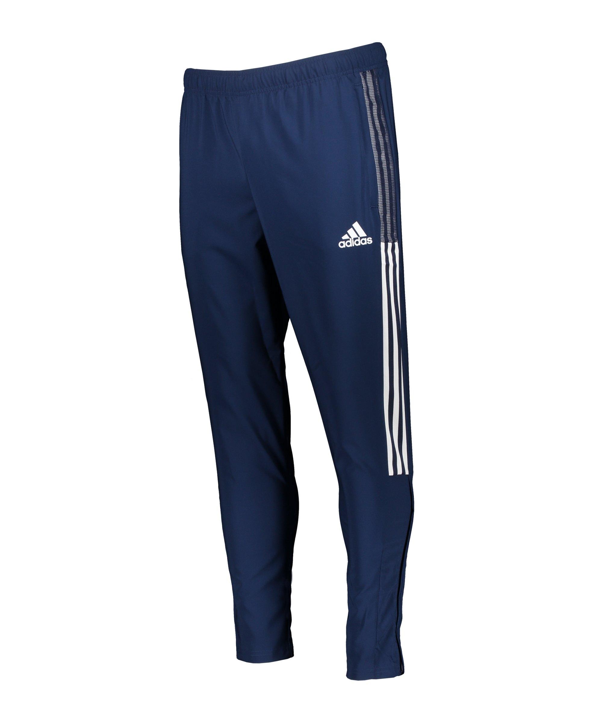 adidas Tiro 21 Woven Trainingshose Dunkelblau - blau