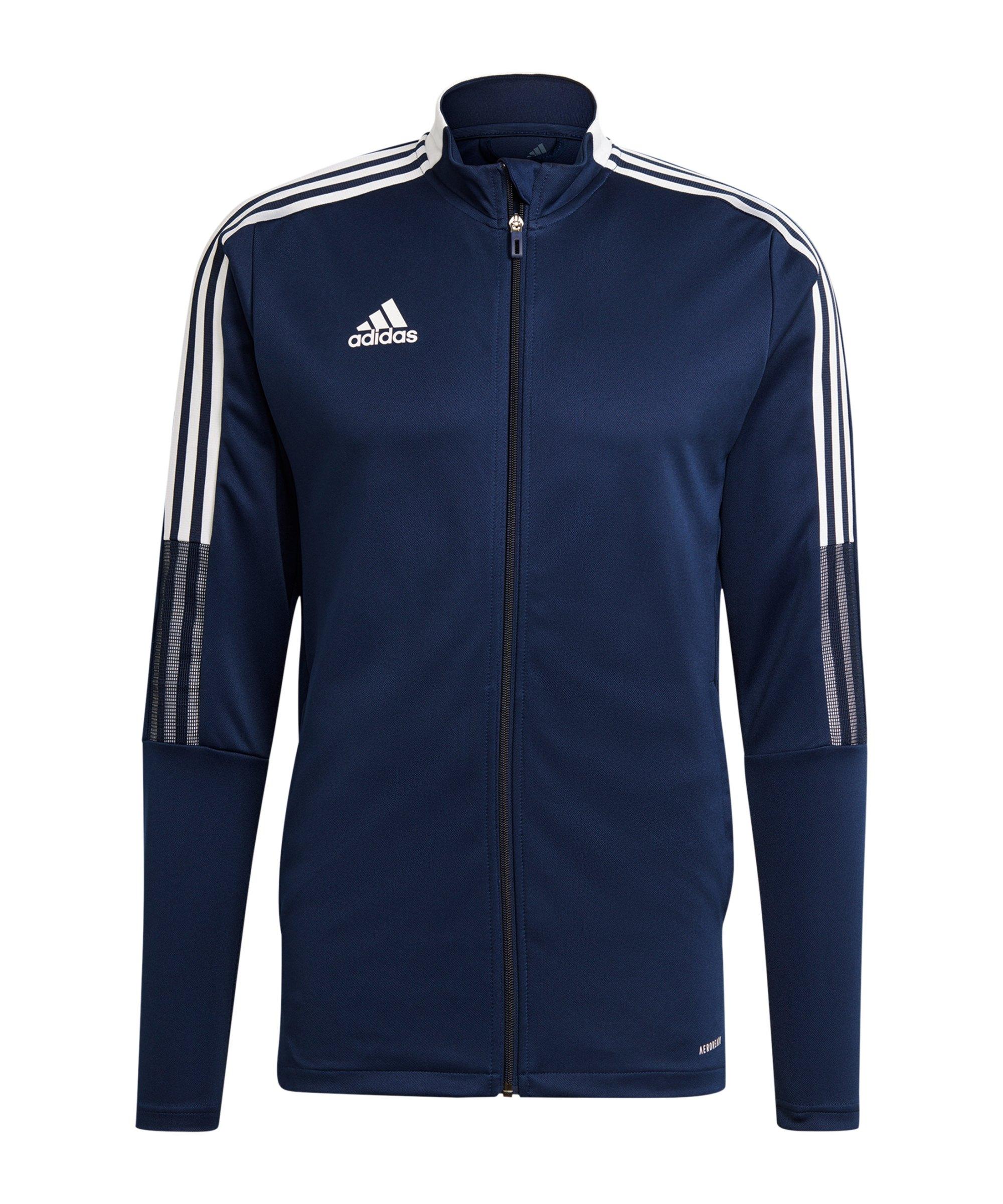 adidas Tiro 21 Trainingsjacke Schwarz Blau - schwarz