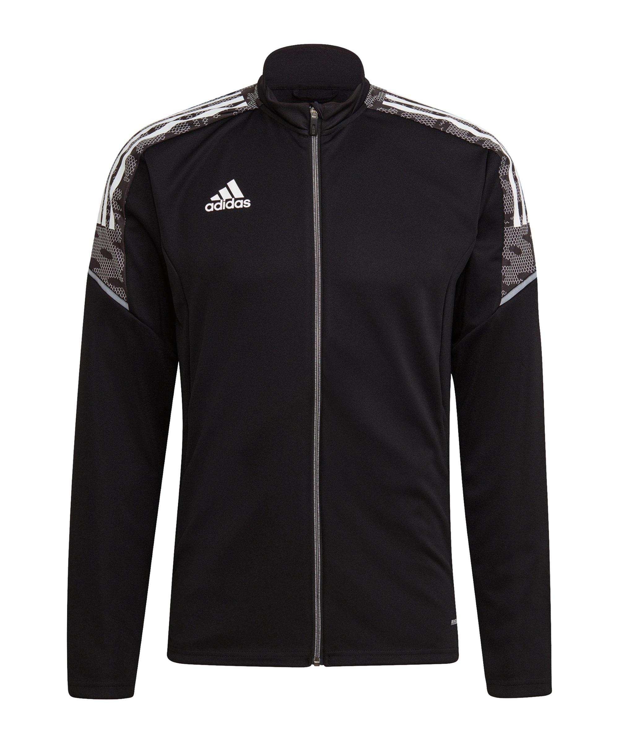 adidas Condivo 21 Trainingsjacke Schwarz Weiss - schwarz