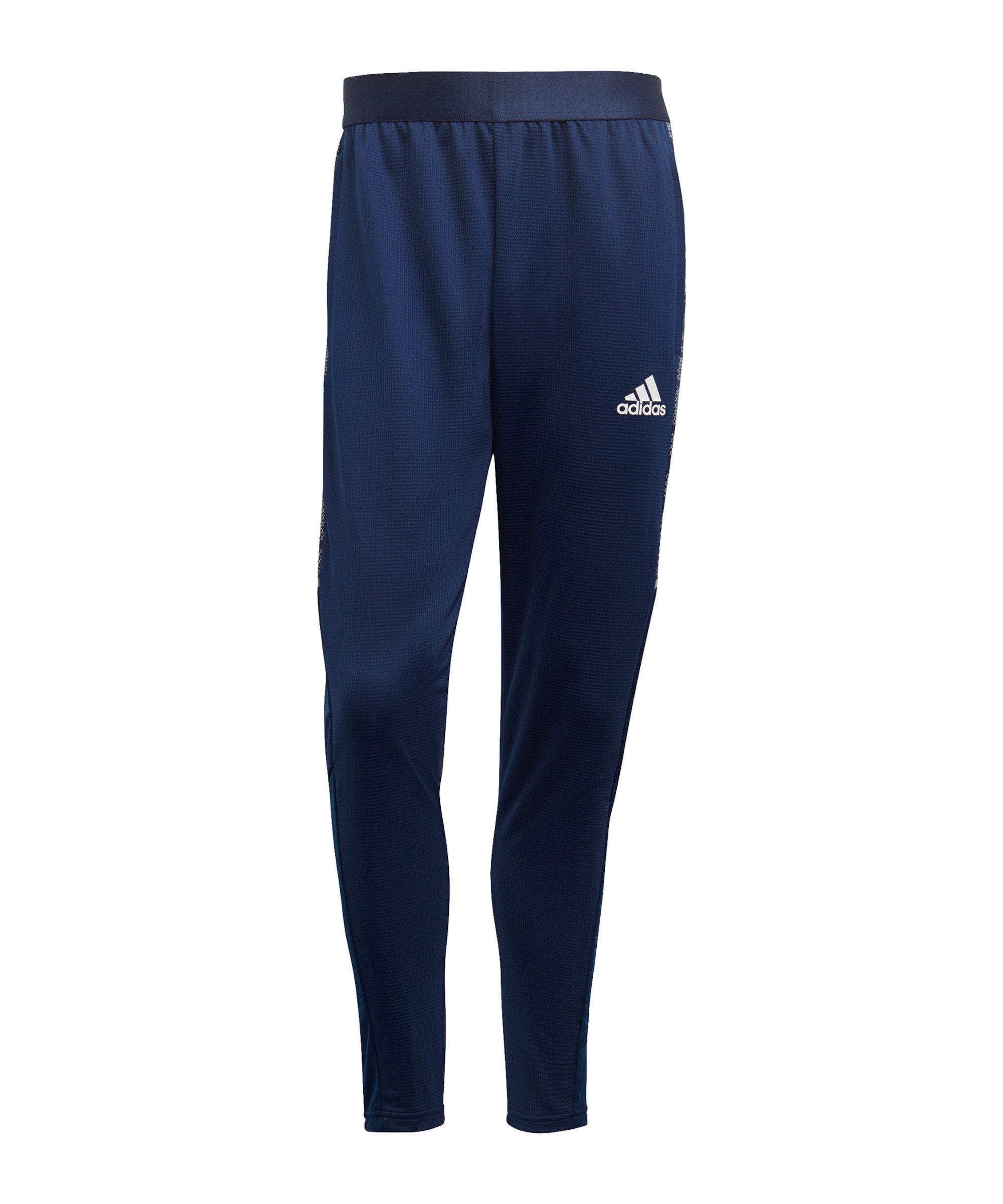 adidas Condivo 21 Trainingshose Blau Weiss - blau