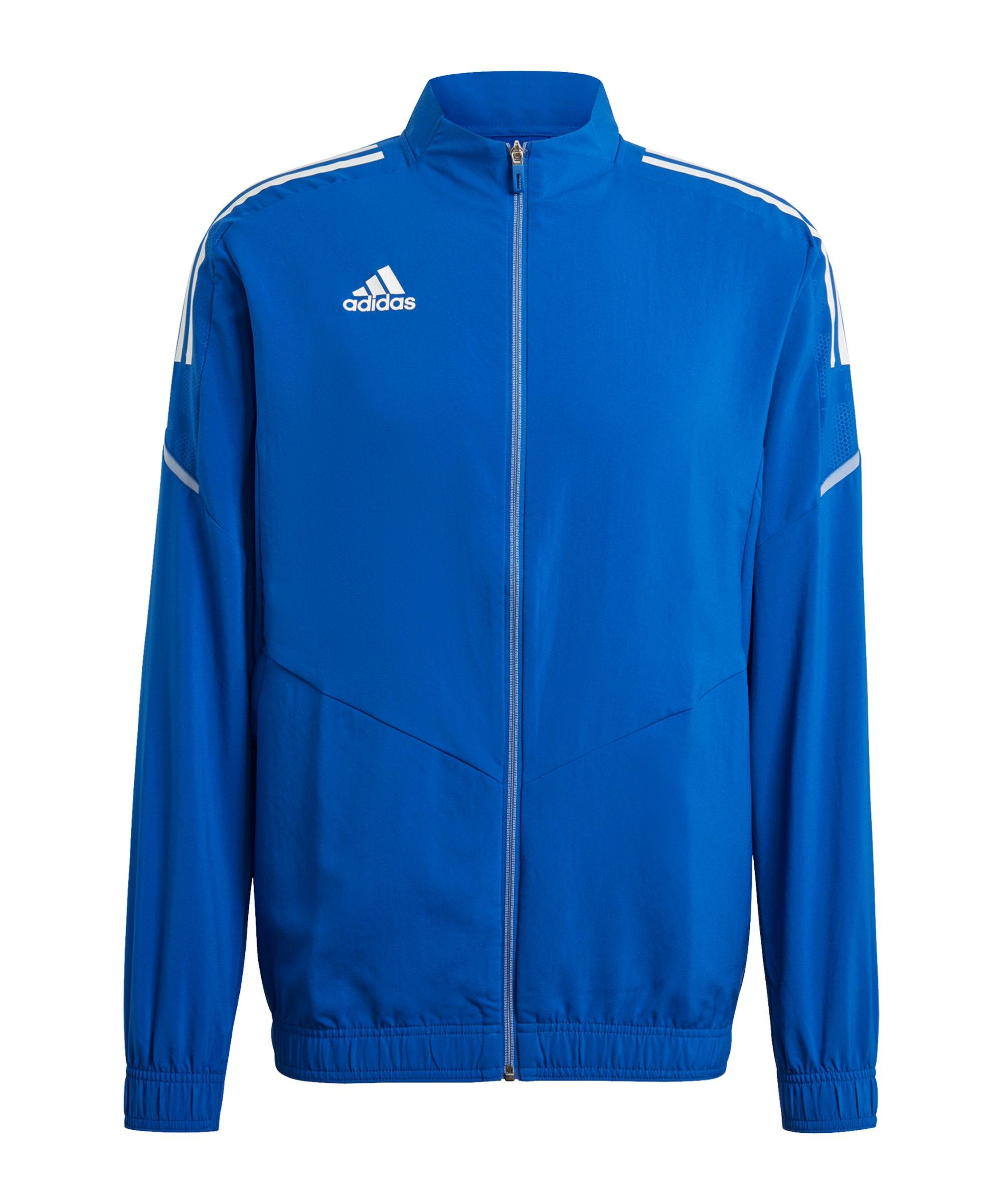 adidas Condivo 21 Präsentationsjacke Blau Weiss - blau