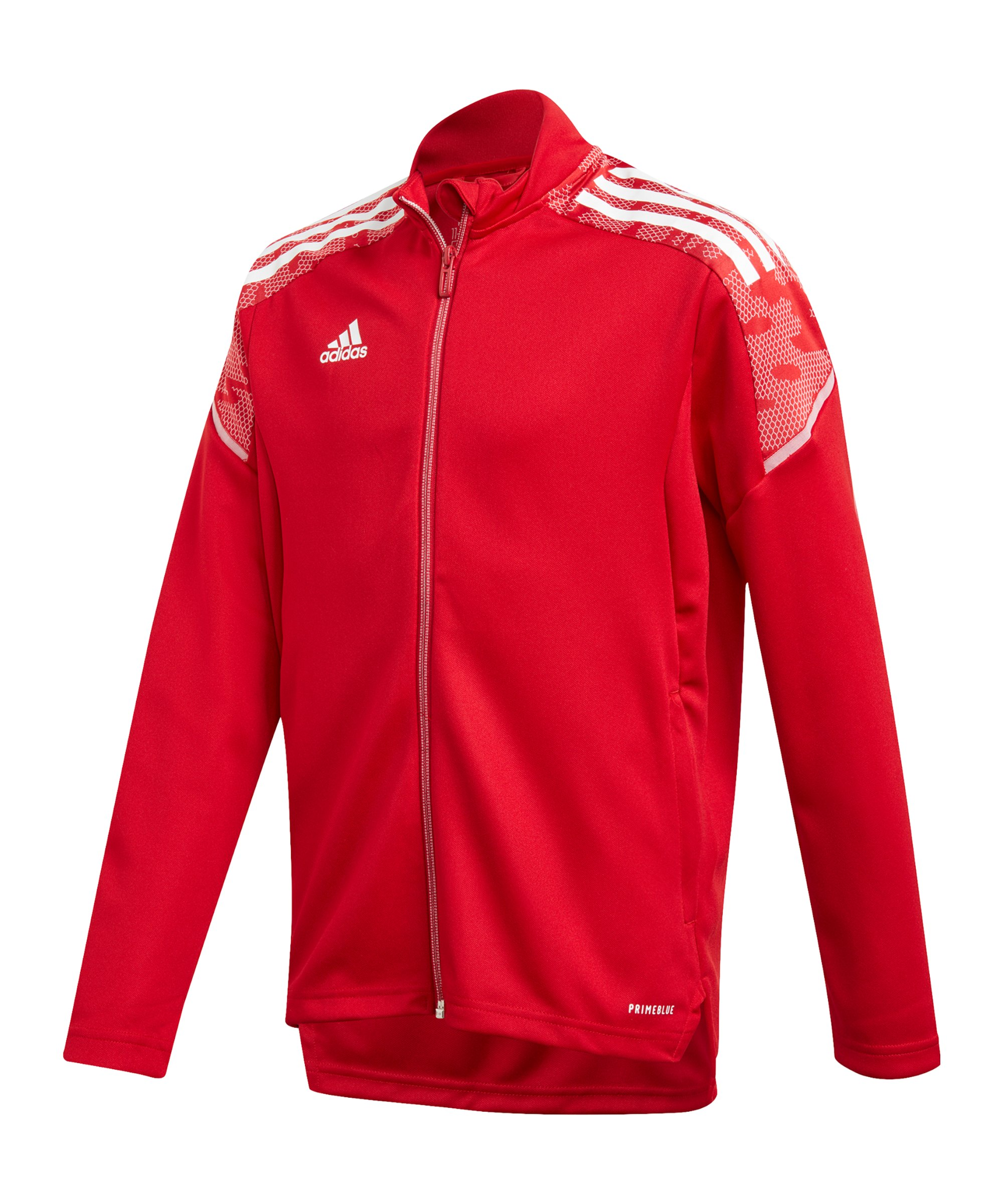 adidas Condivo 21 Trainingsjacke Kids Rot Weiss - rot