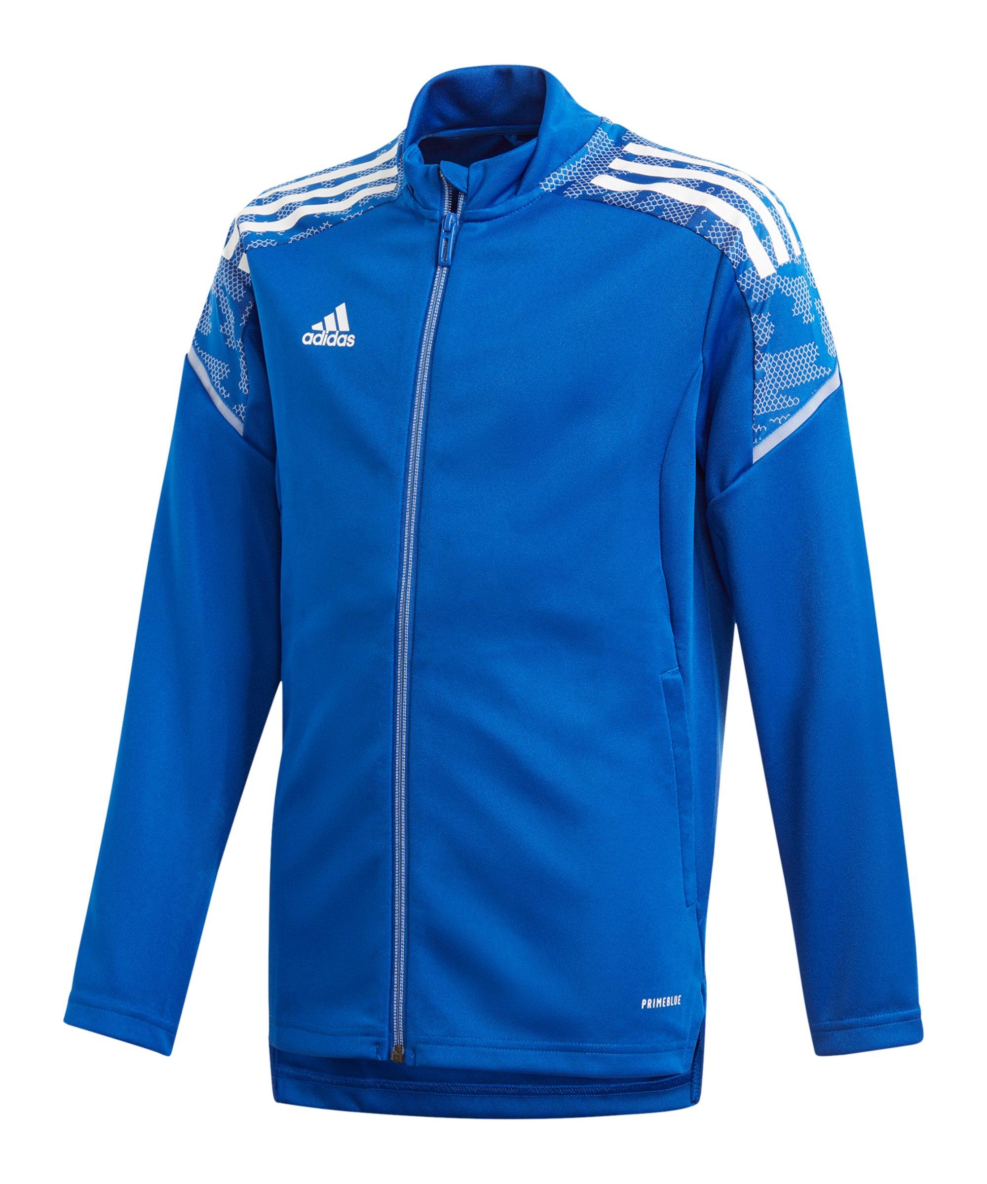 adidas Condivo 21 Trainingsjacke Kids Blau Weiss - blau