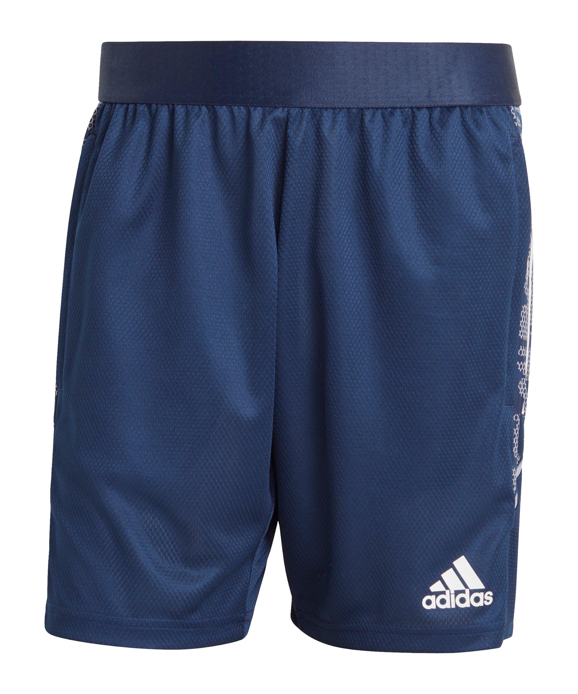 adidas Condivo 21 Short Dunkelblau Weiss - blau