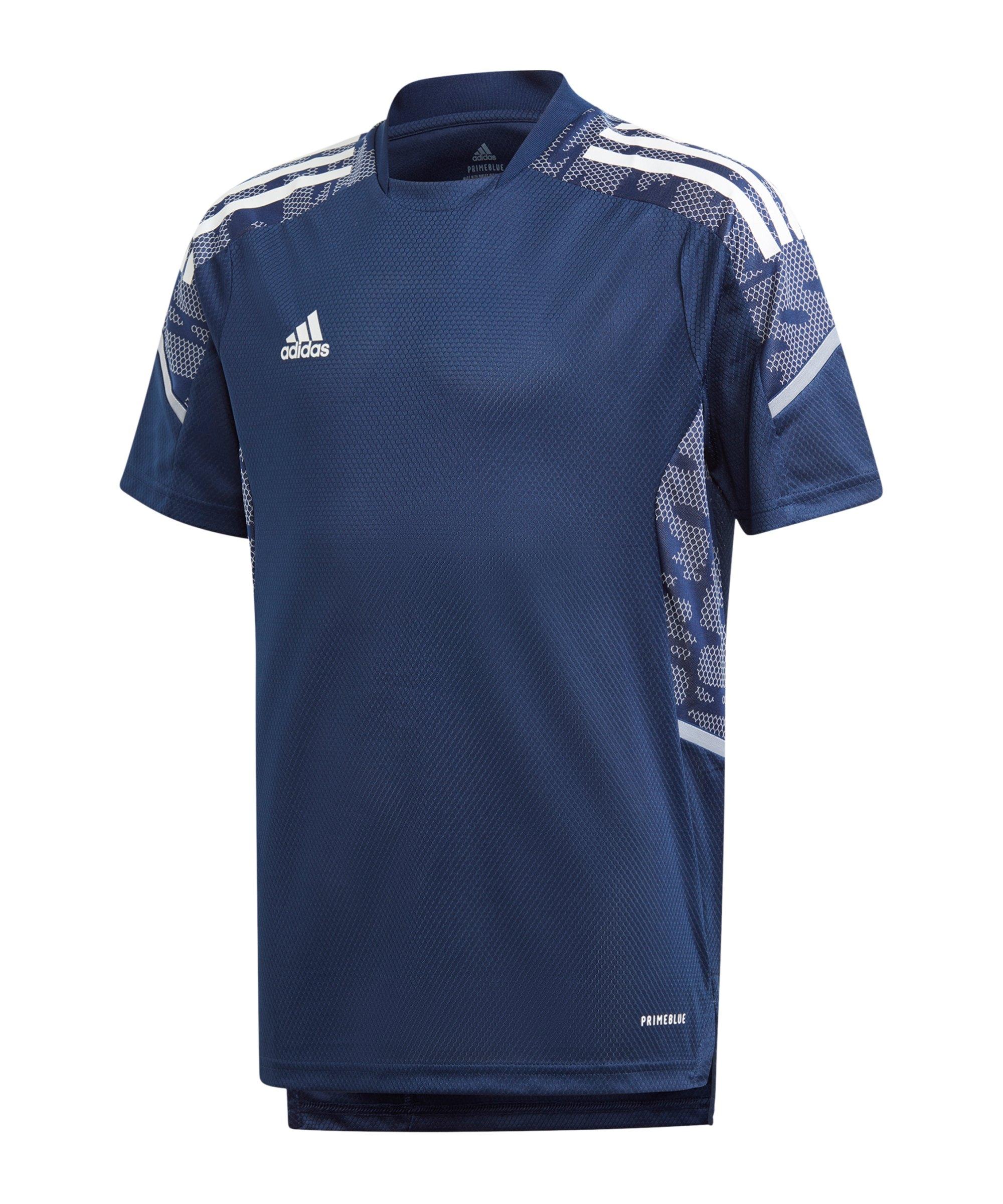 adidas Condivo 21 Trainingsshirt Kids Dunkelblau - blau