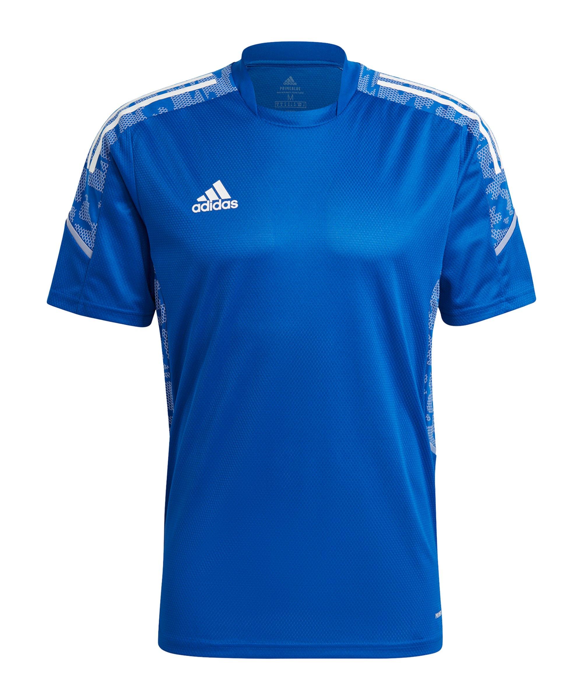adidas Condivo 21 Trainingsshirt Blau Weiss - blau