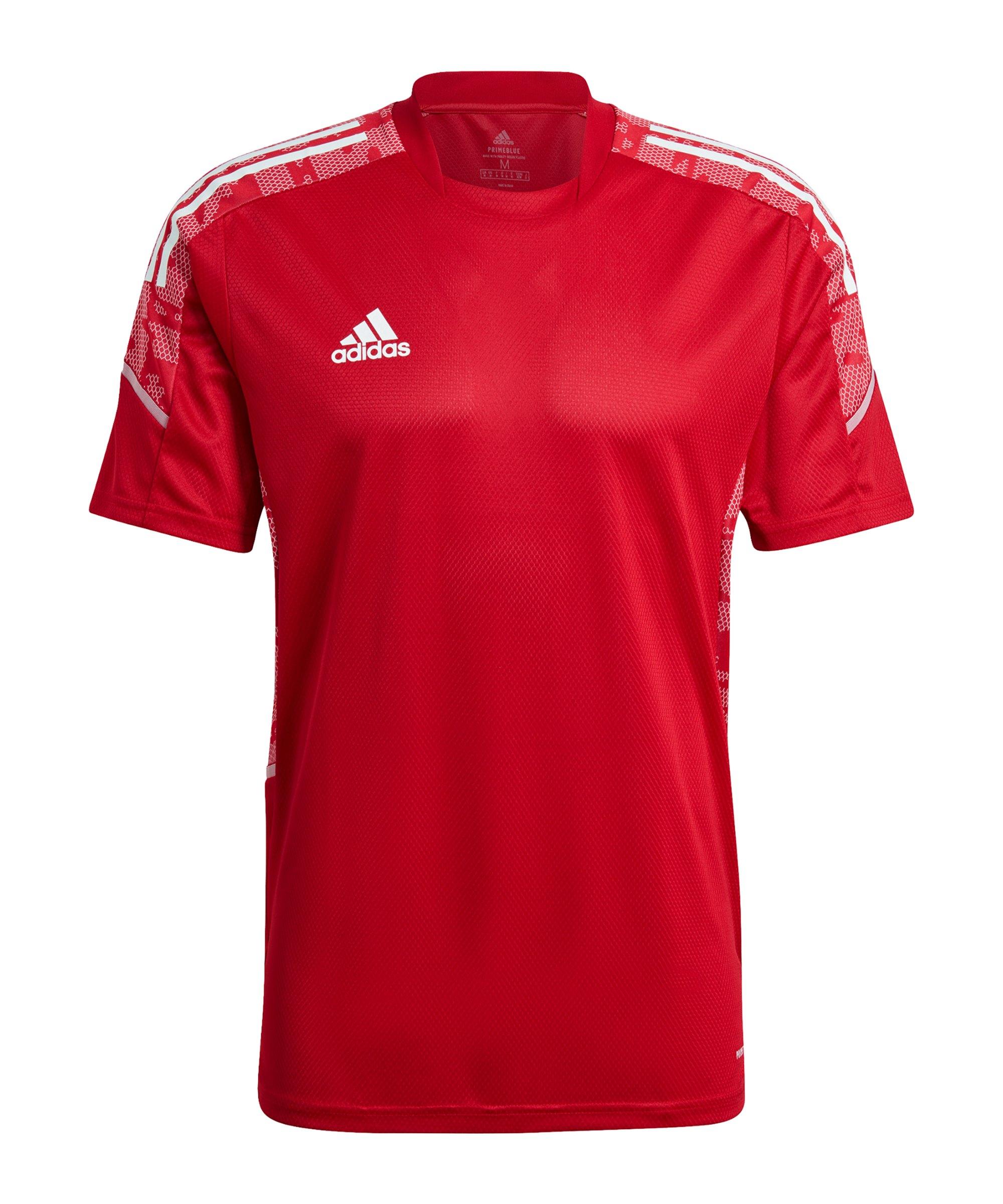 adidas Condivo 21 Trainingsshirt Rot Weiss - rot