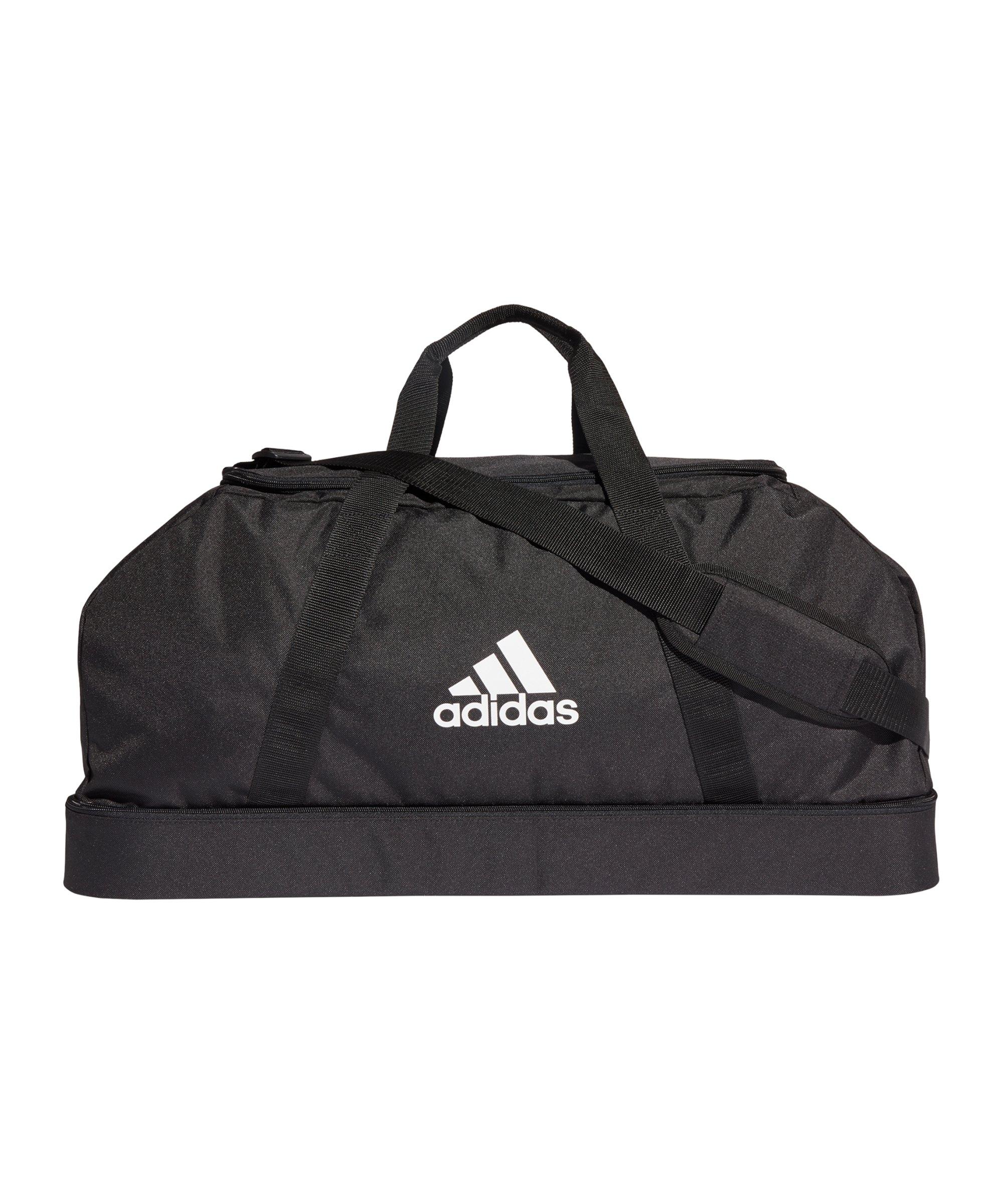 adidas Tiro Duffle Bag Gr. L mit Bodenfach Schwarz - schwarz