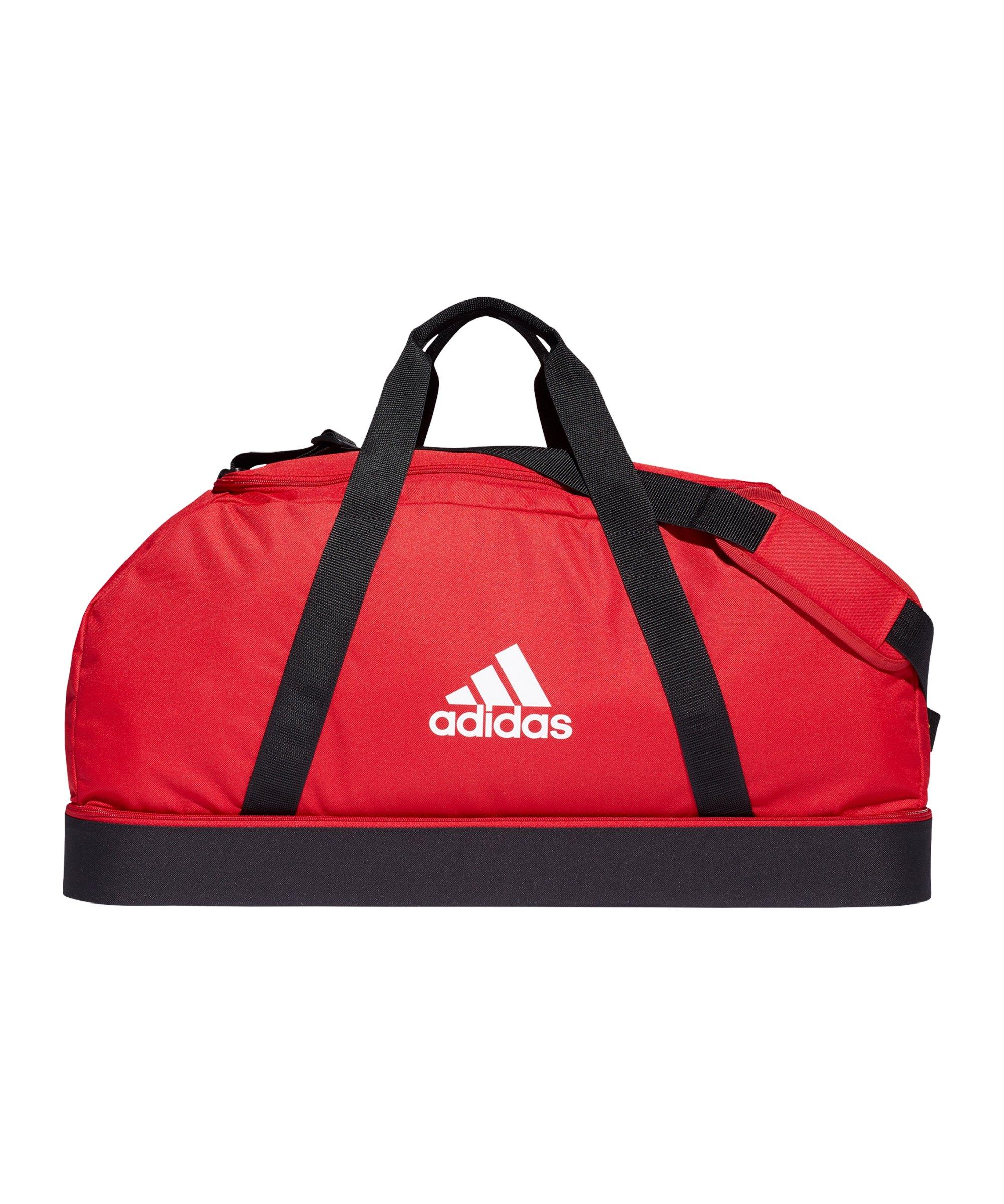 adidas Tiro Duffel Bag Gr. L mit Bodenfach Rot - rot