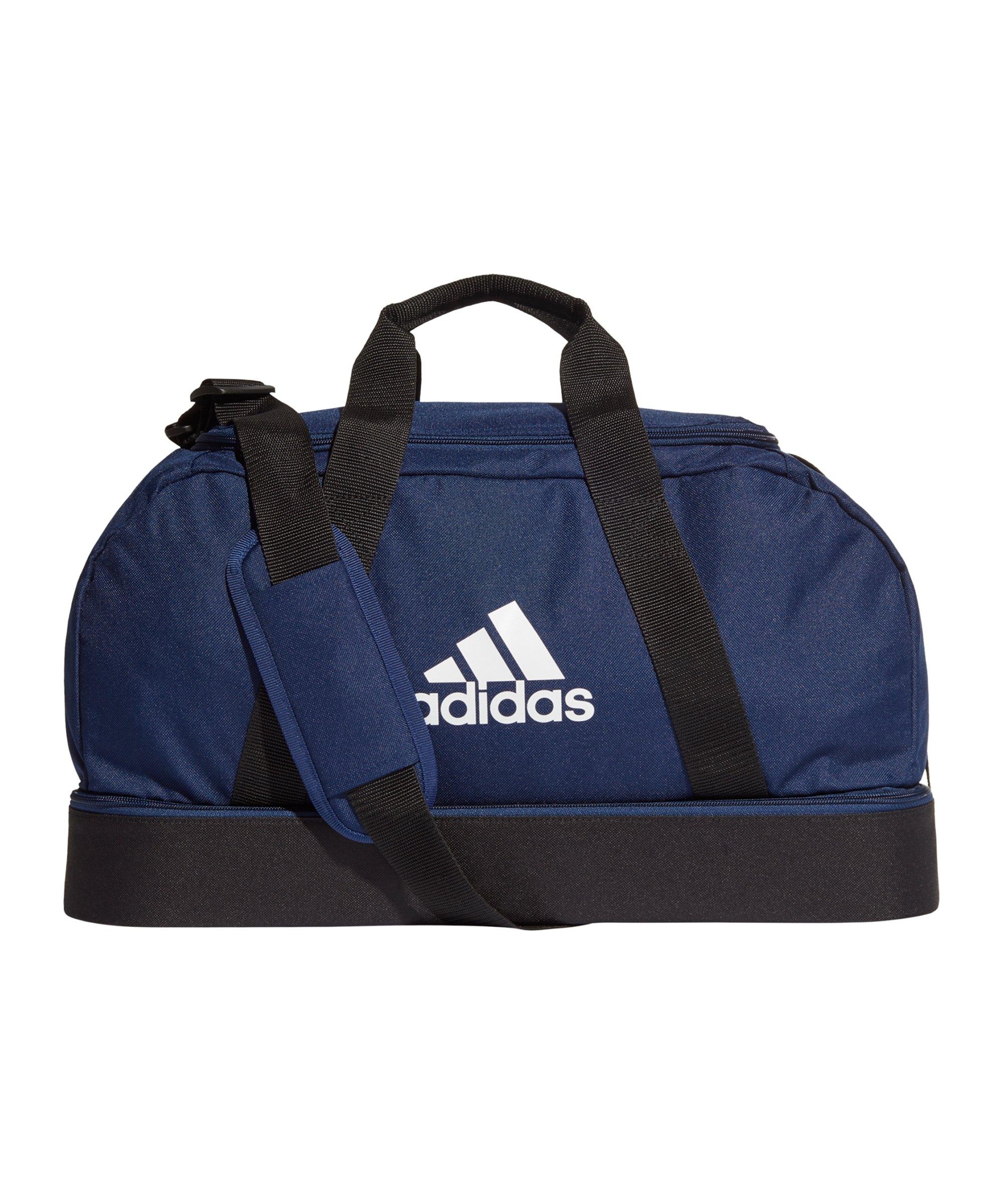 adidas Tiro Duffel Bag Gr. S mit Bodenfach Blau - blau
