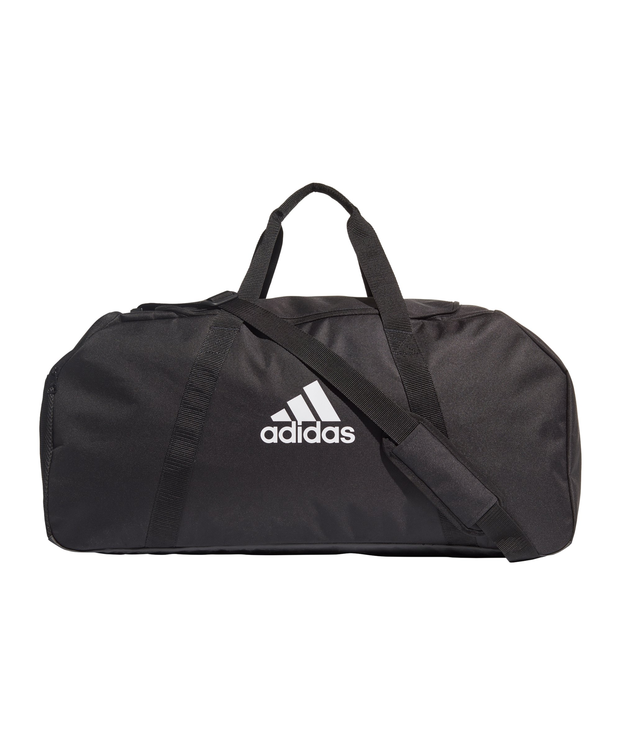 adidas Tiro Duffle Bag Gr. L Schwarz Weiss - schwarz