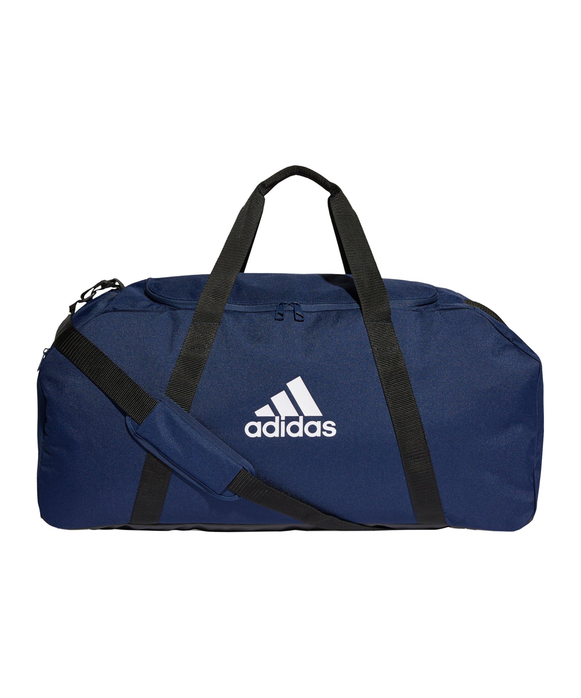 adidas Tiro Duffle Bag Gr. L Blau Weiss - blau