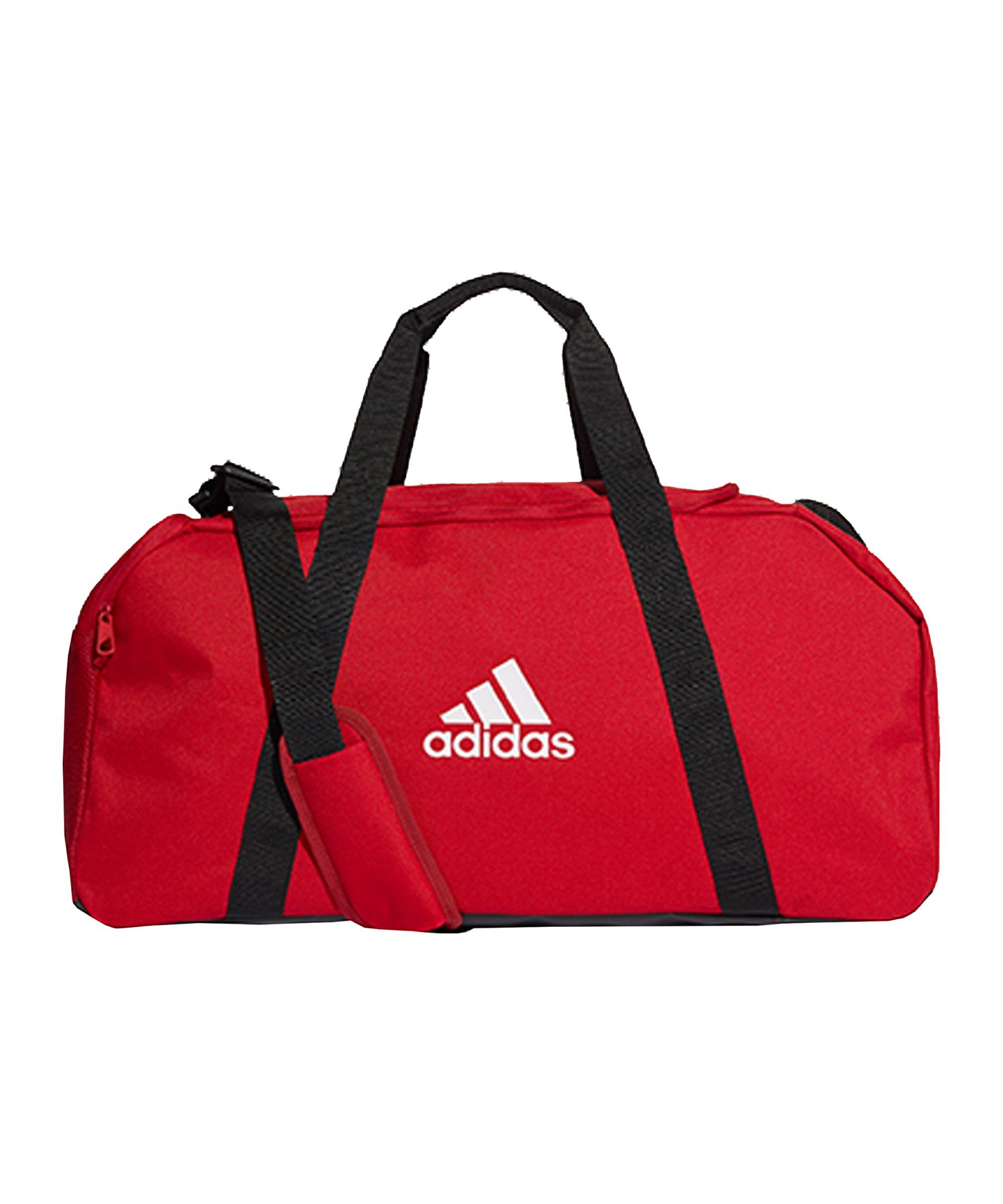 adidas Tiro Duffle Bag Gr. M Rot Weiss - rot