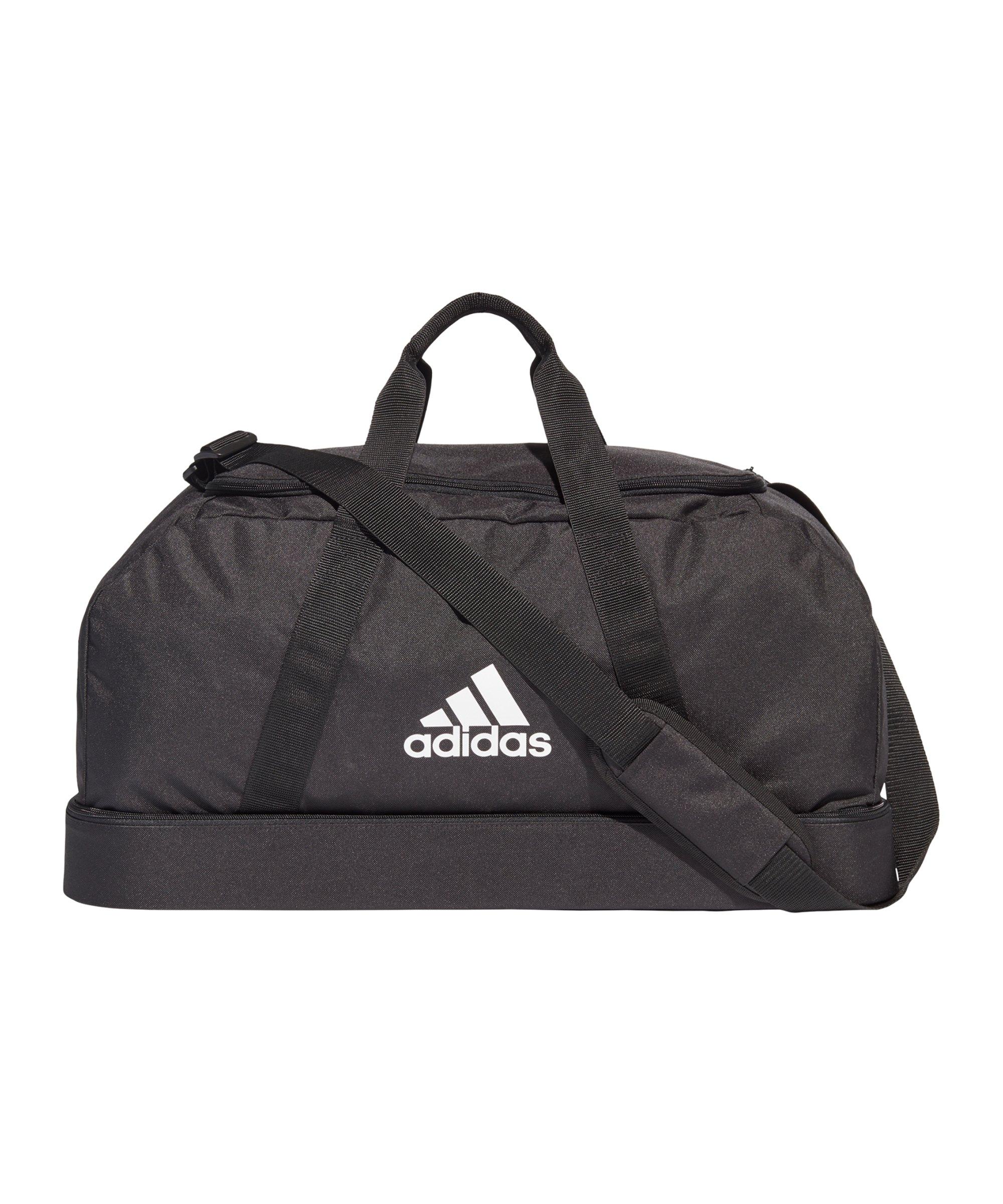 adidas Tiro Duffel Bag BC Gr. M Schwarz Weiss - schwarz
