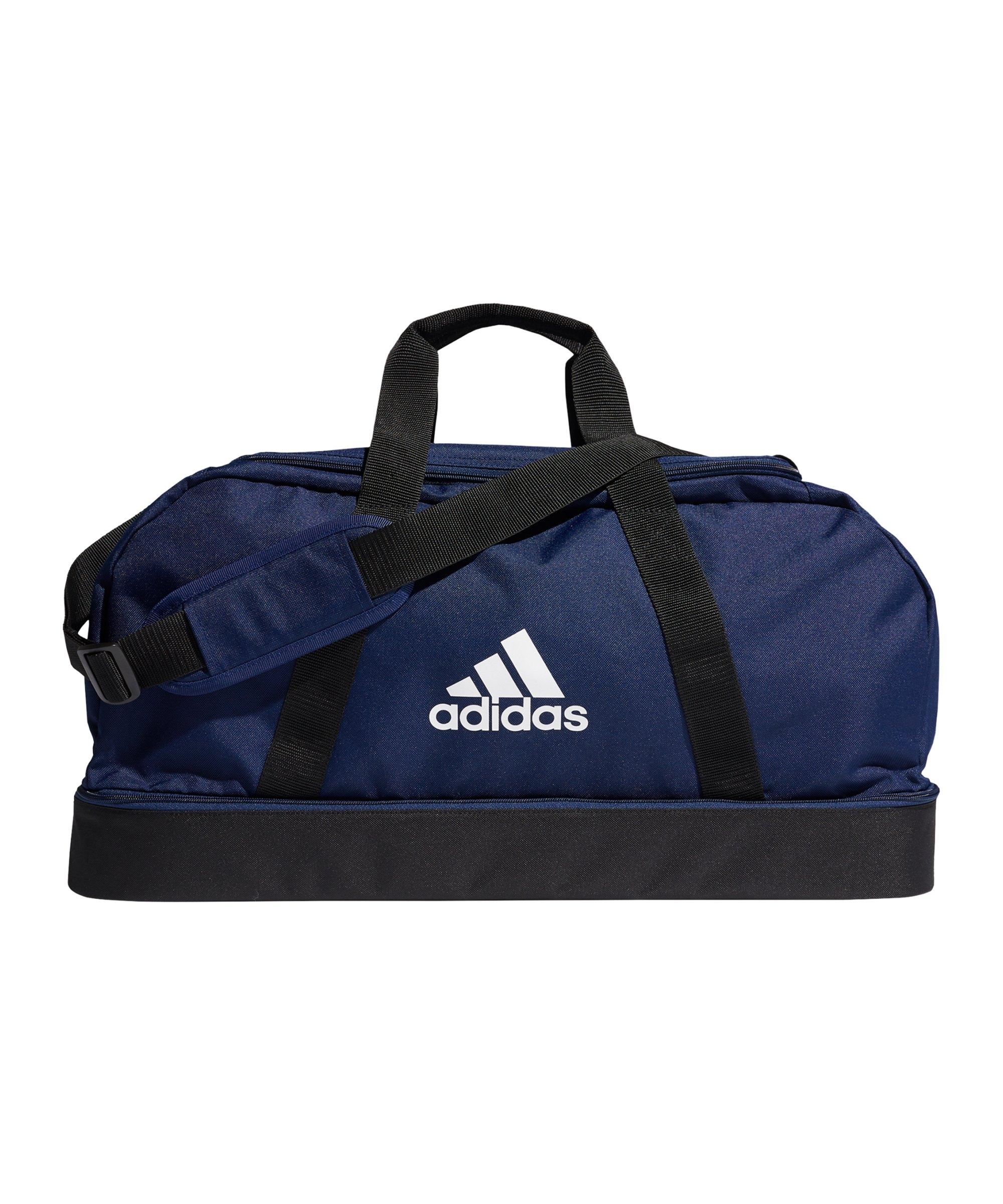adidas Tiro Duffel Bag Gr. M mit Bodenfach Blau - blau
