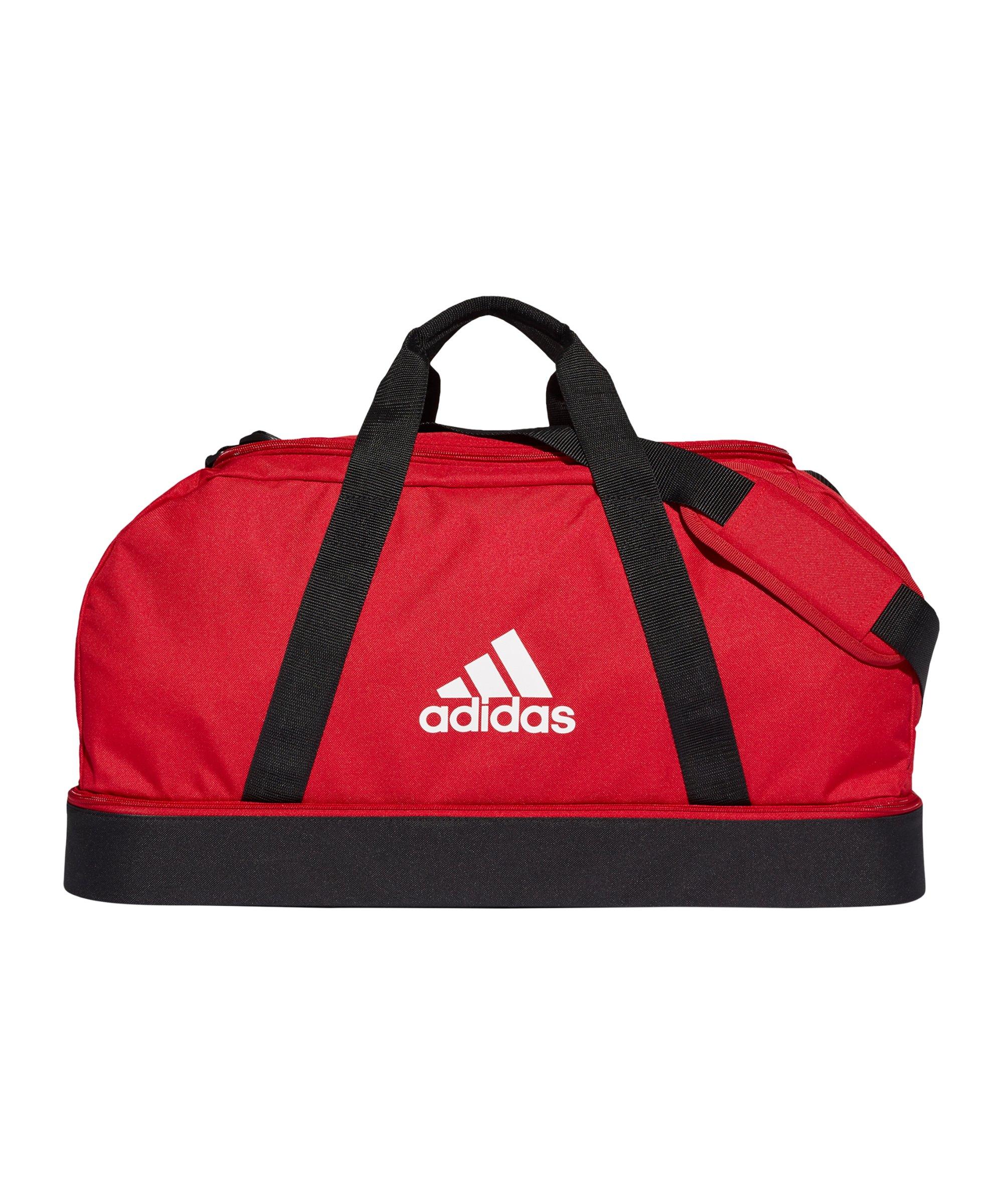 adidas Tiro Duffel Bag Gr. M mit Bodenfach Rot - rot