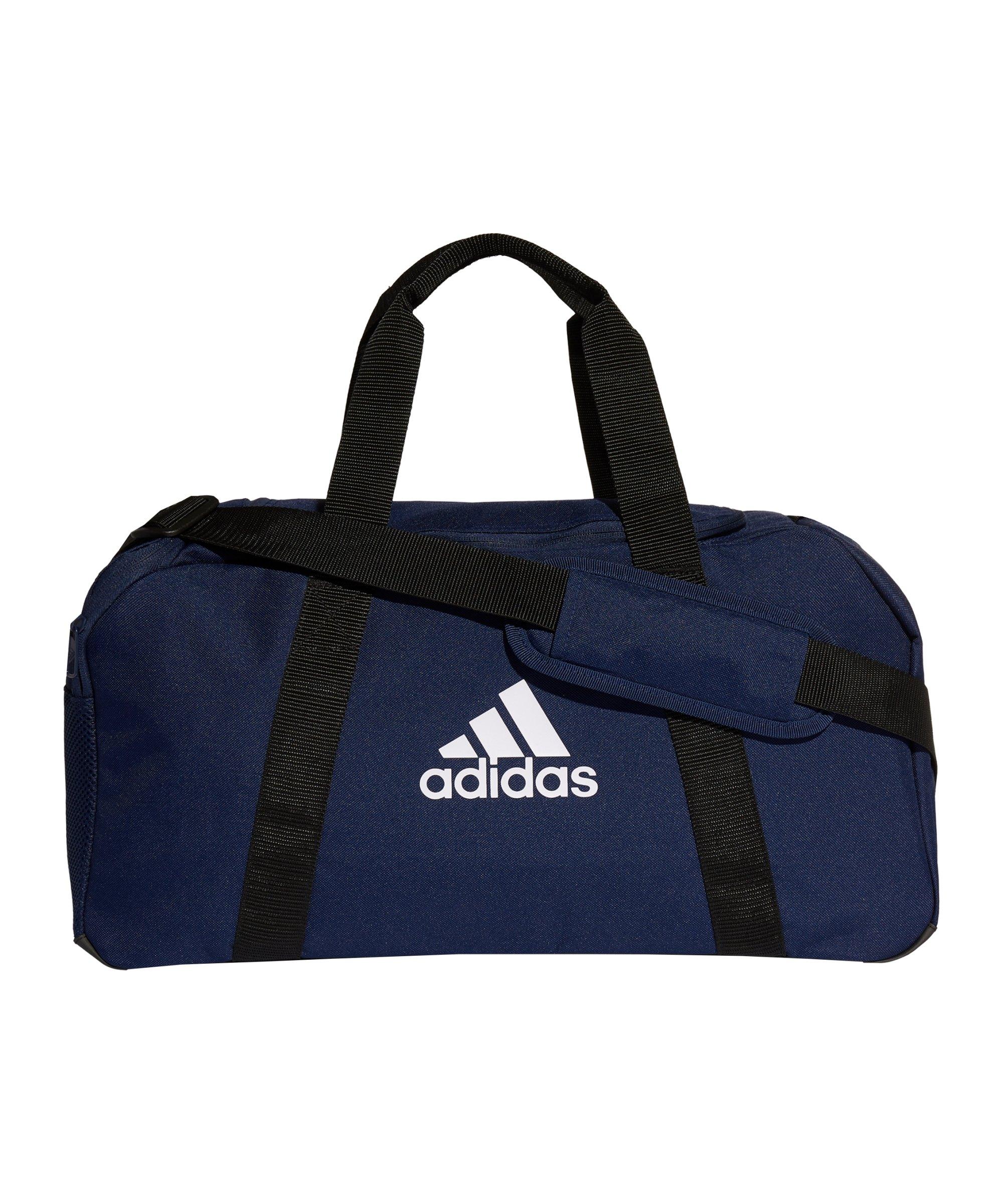 adidas Tiro Duffle Bag Gr. S Blau Weiss - blau