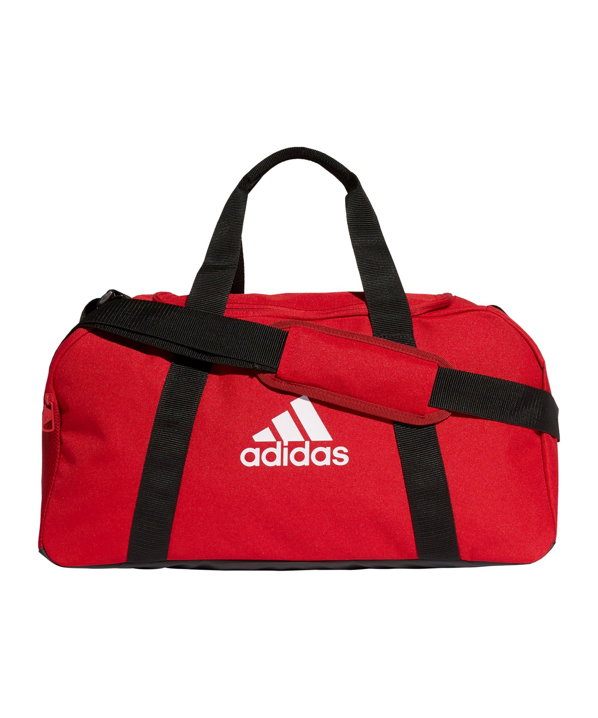 adidas Tiro Duffle Bag Gr. S Rot Weiss - rot