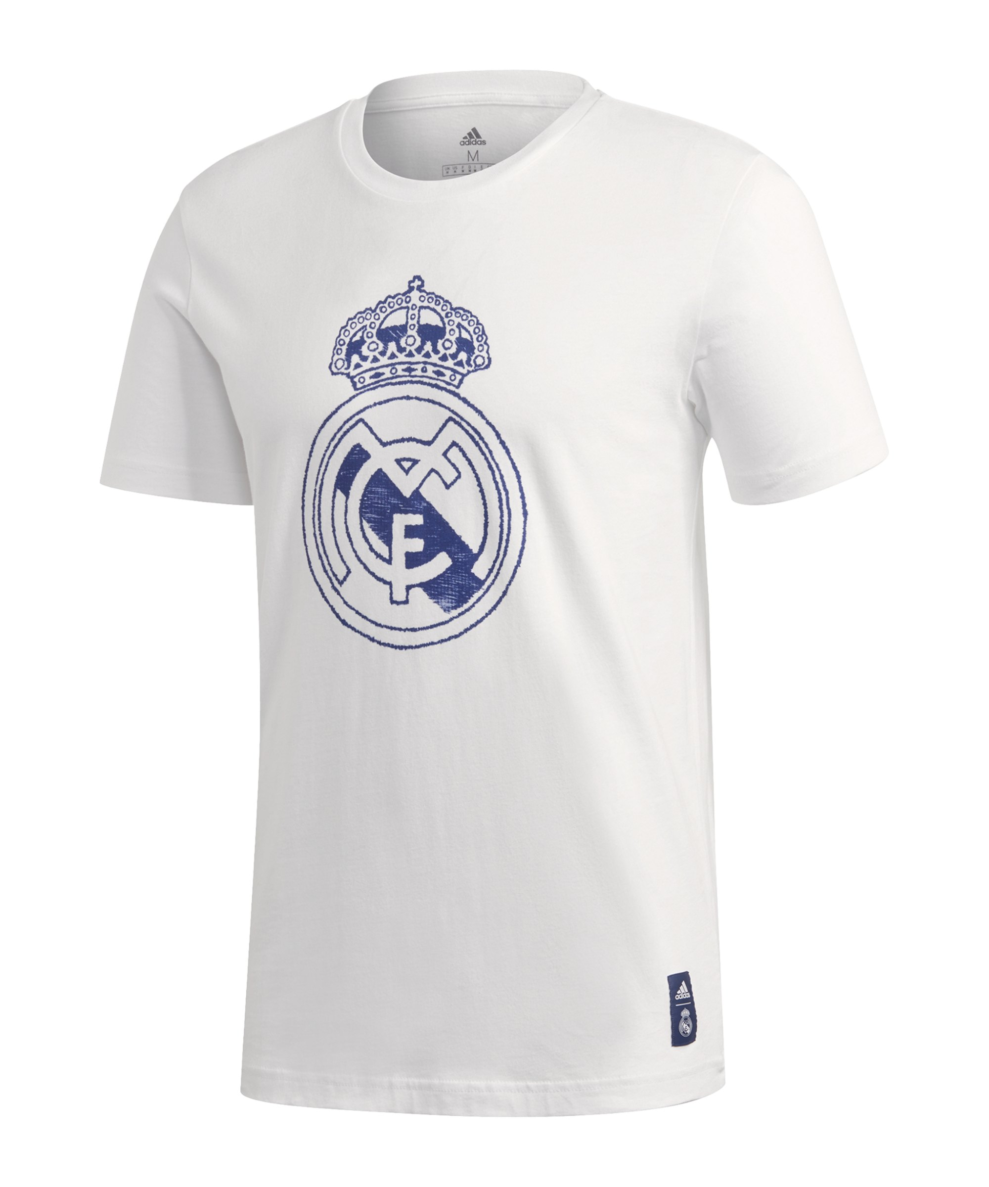 adidas Real Madrid DNA Graphic T-Shirt Weiss Blau - weiss