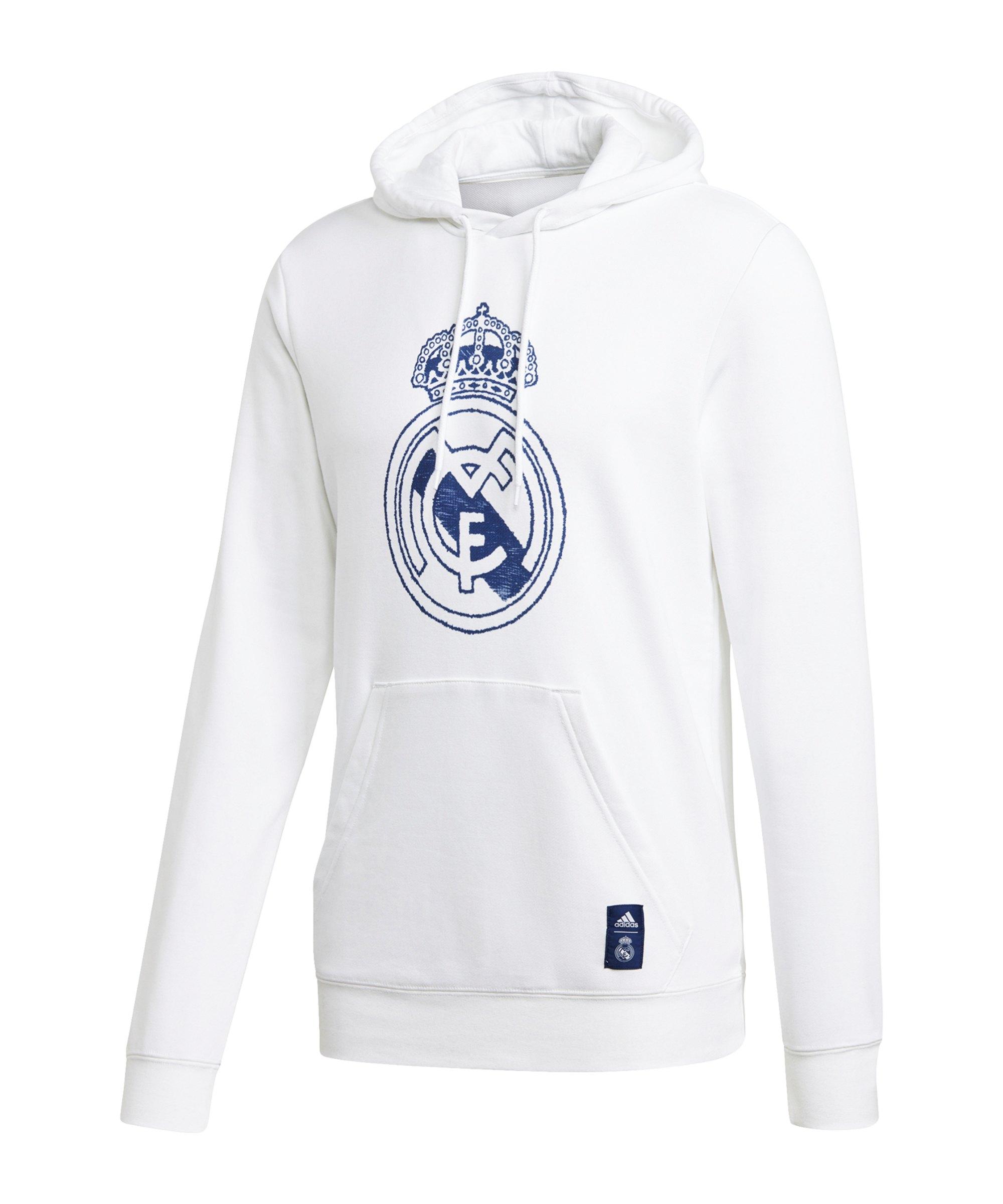 adidas Real Madrid DNA Hoody Weiss Blau - weiss