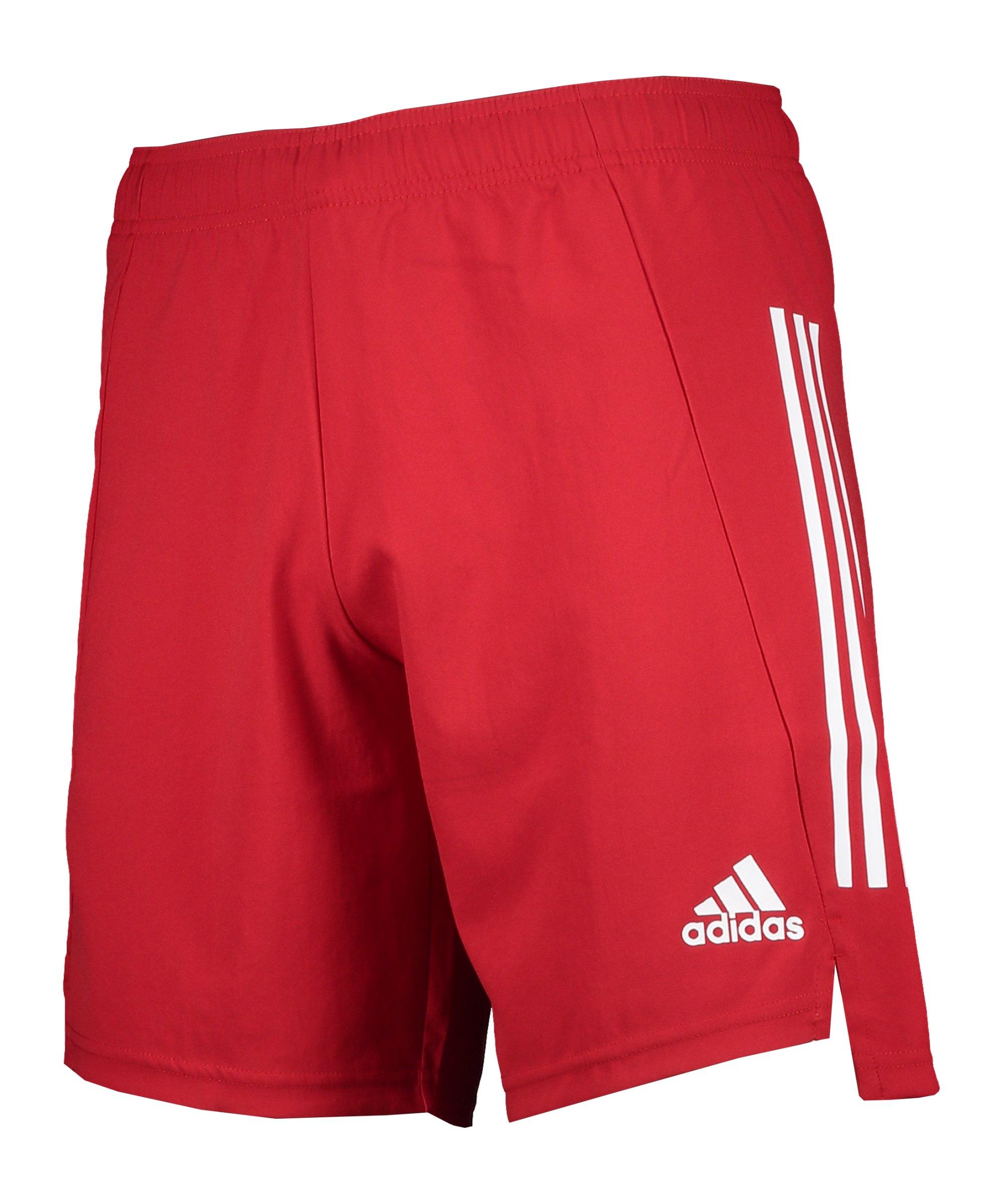 adidas Condivo 21 Short Rot Weiss - rot