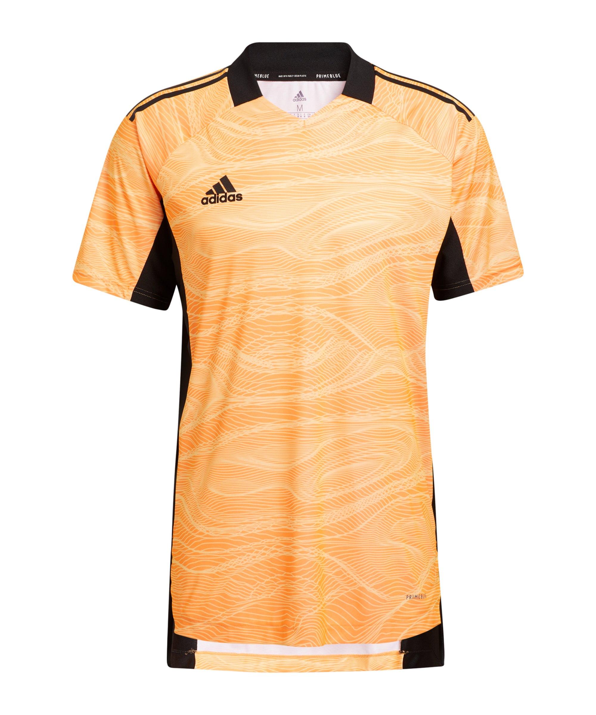 adidas Condivo 21 Torwarttrikot kurzarm Orange - orange