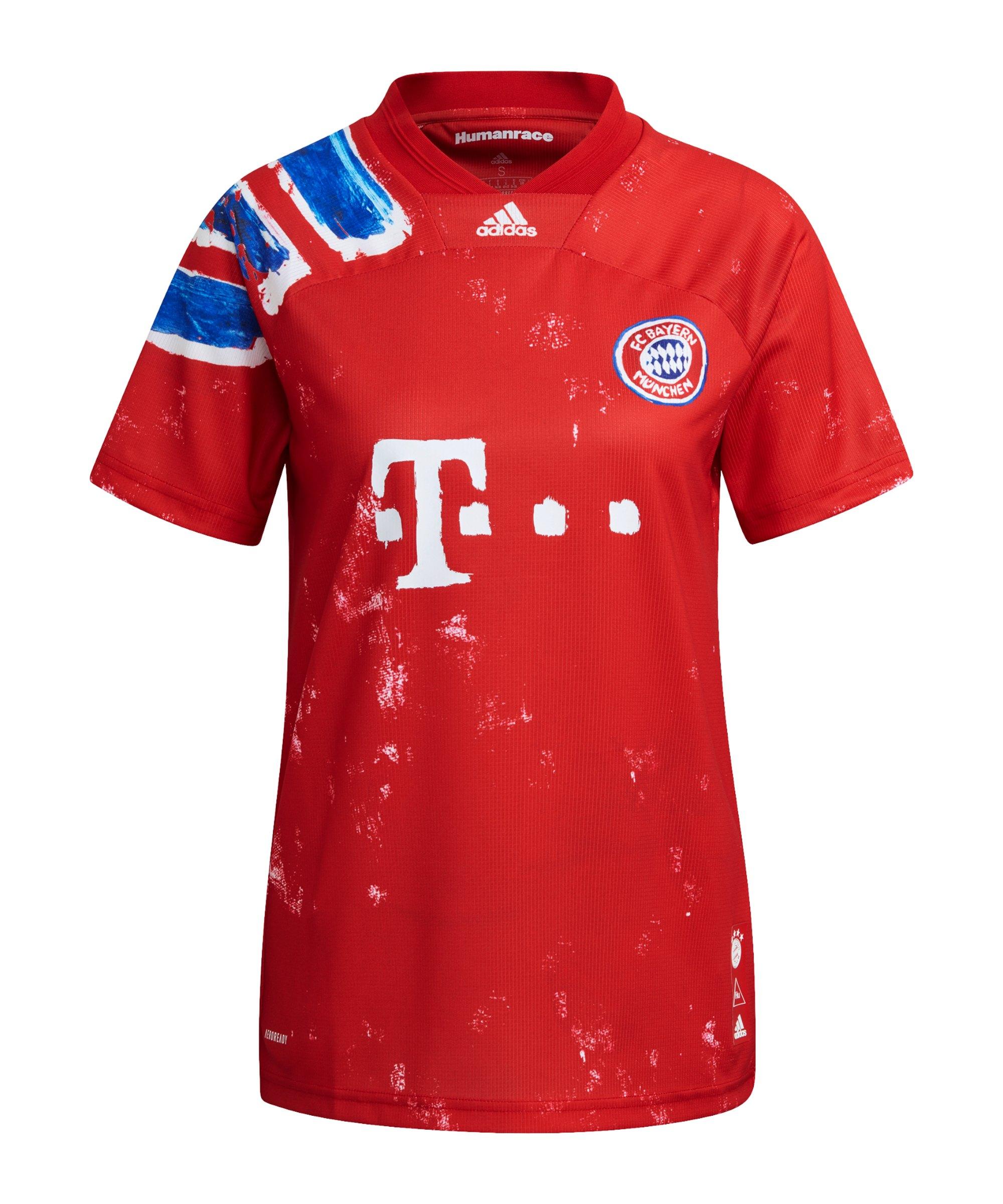 adidas FC Bayern München Human Race Trikot Damen Rot Weiss - rot