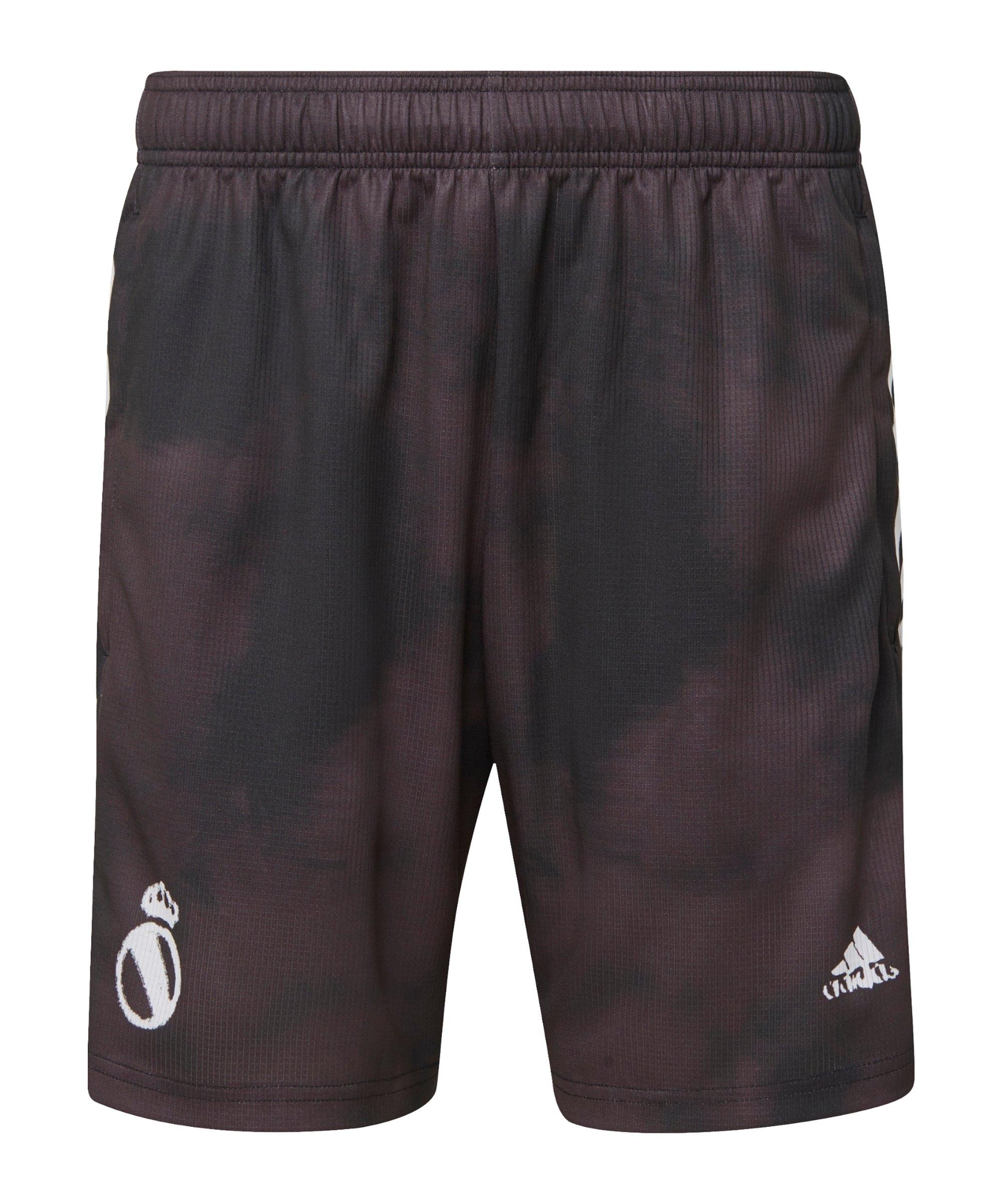 adidas Real Madrid Human Race Short Schwarz Weiss - schwarz