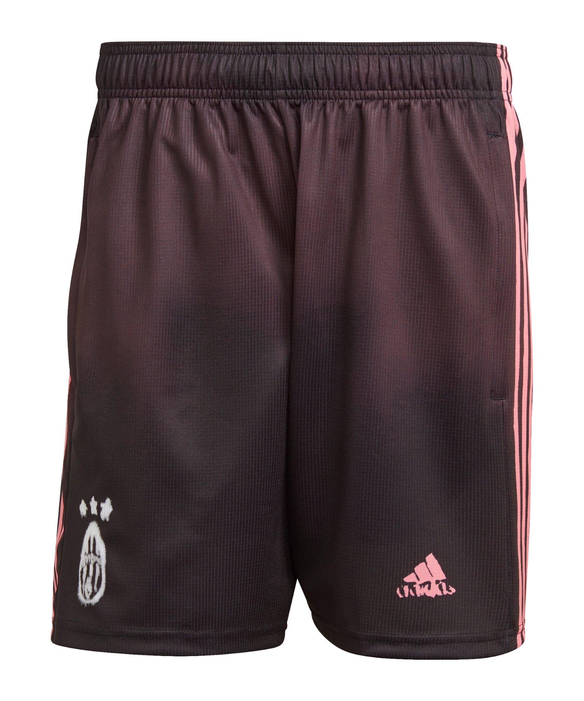adidas Juventus Turin HR Short Schwarz Pink - schwarz